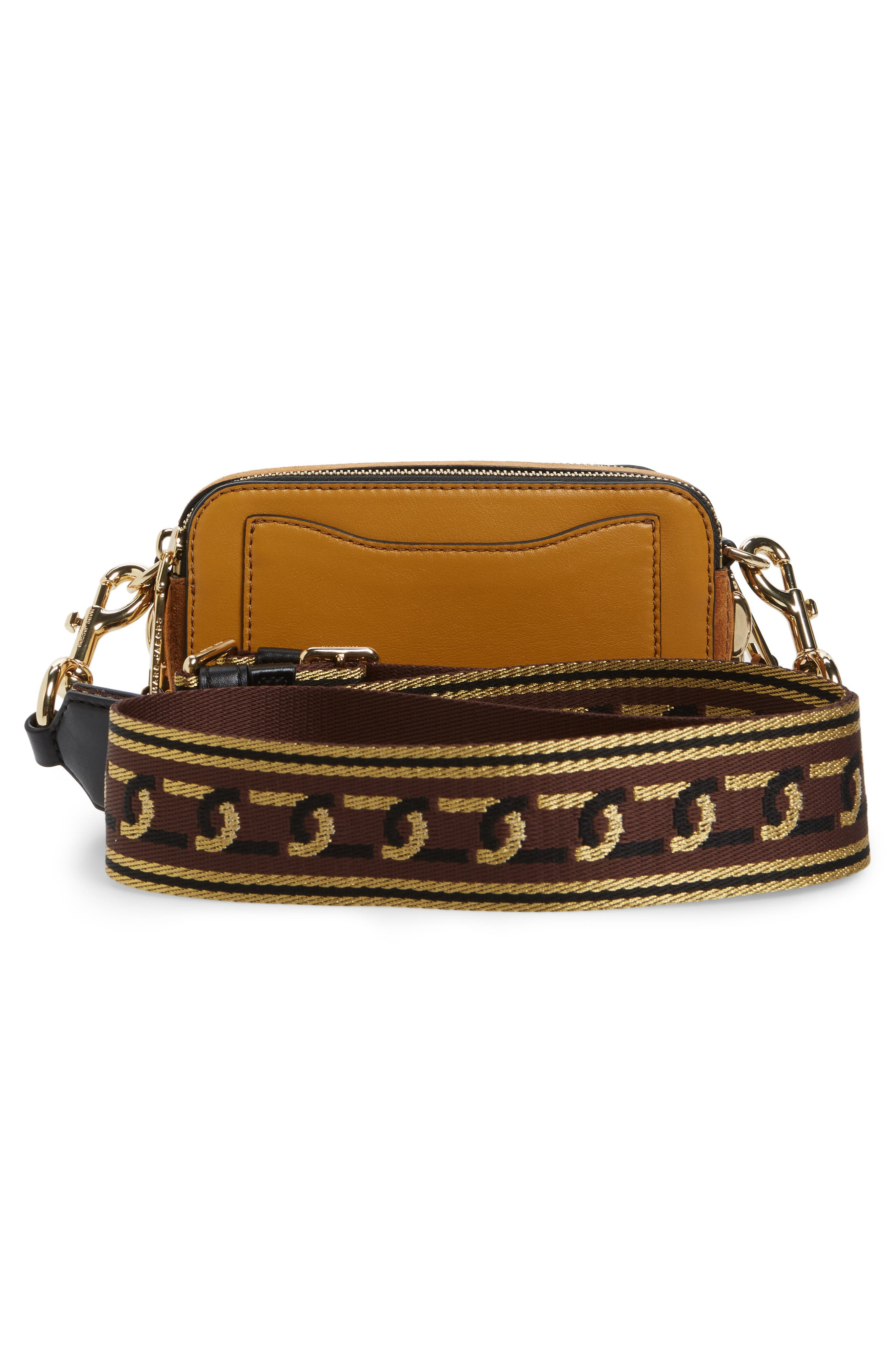 Small Chain Snapshot Suede Camera Bag,                             Alternate thumbnail 3, color,                             MUSTARD