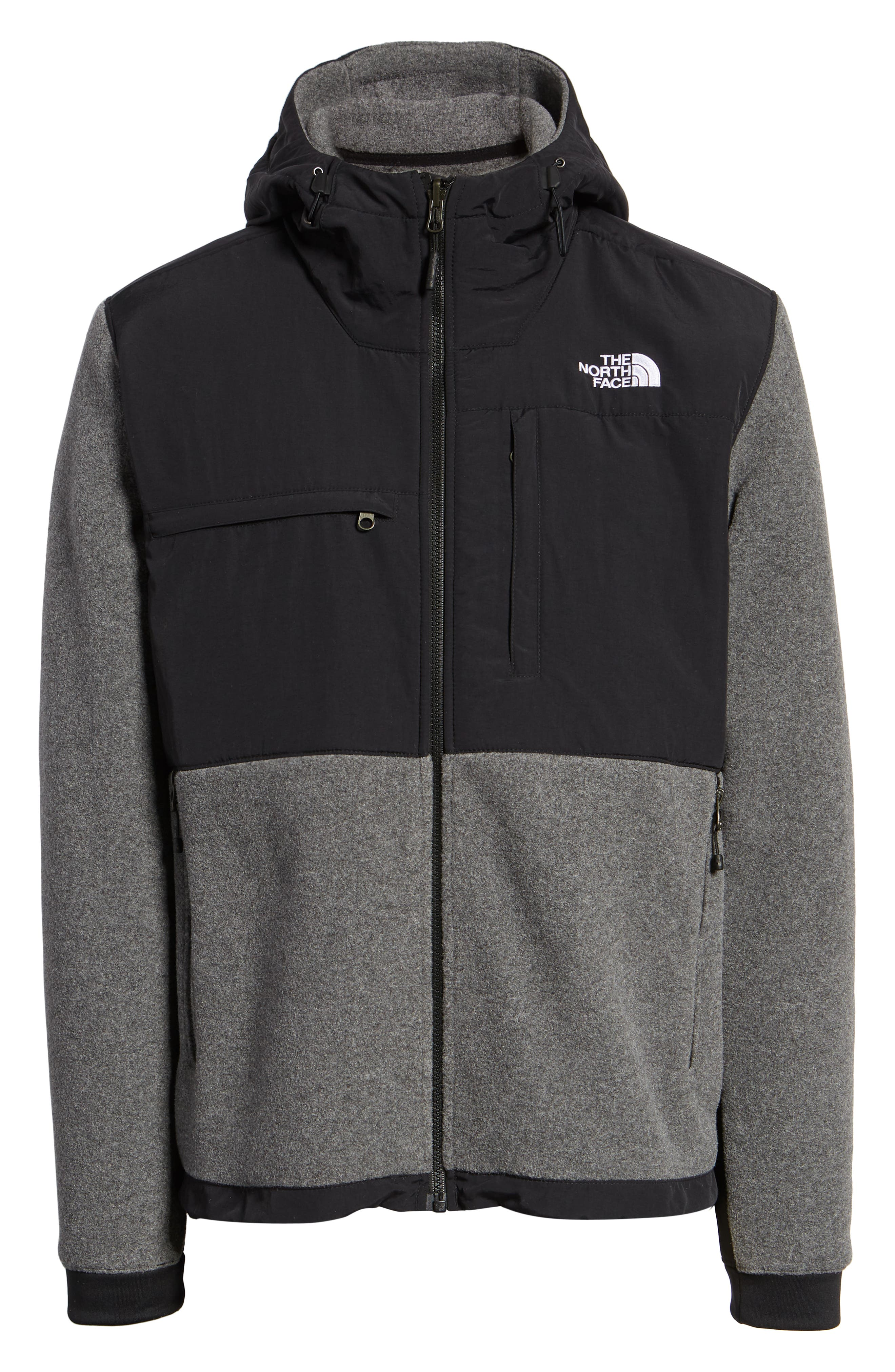 Denali 2 Hooded Jacket,                             Alternate thumbnail 7, color,                             RECYCLED CHARCOAL GREY HEATHER