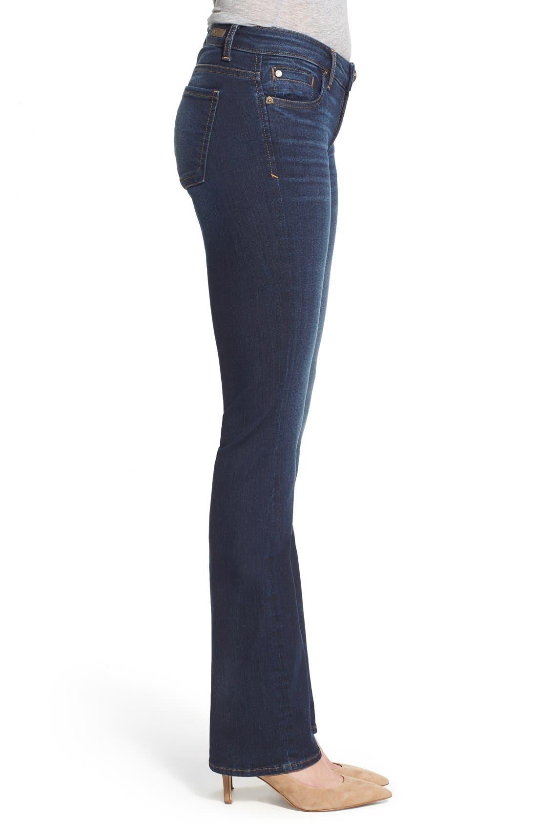 'Natalie' Stretch Bootleg Jeans,                             Alternate thumbnail 3, color,                             401