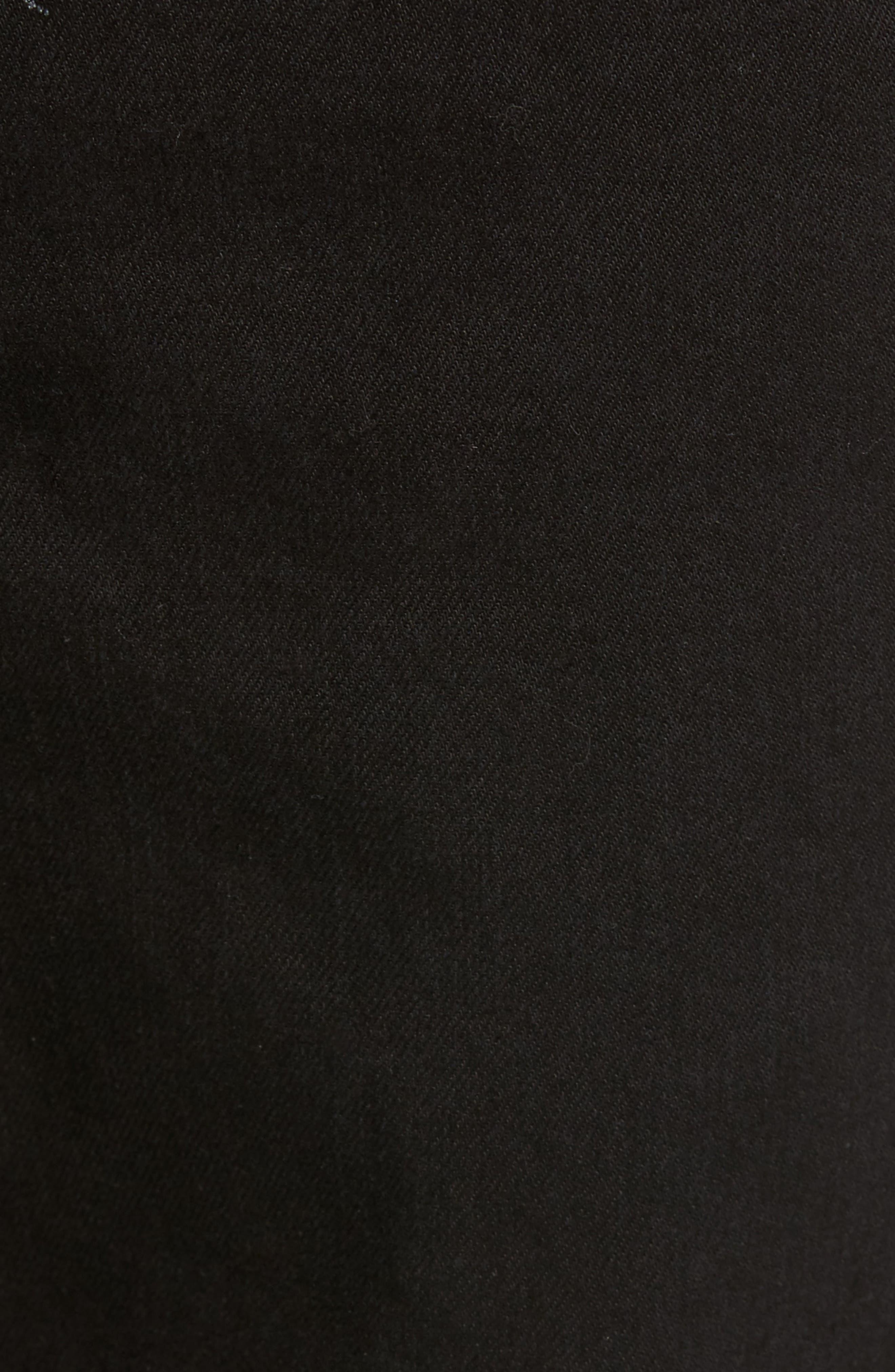 Sand Straight Leg Jeans,                             Alternate thumbnail 5, color,                             BLACK OVERDYE