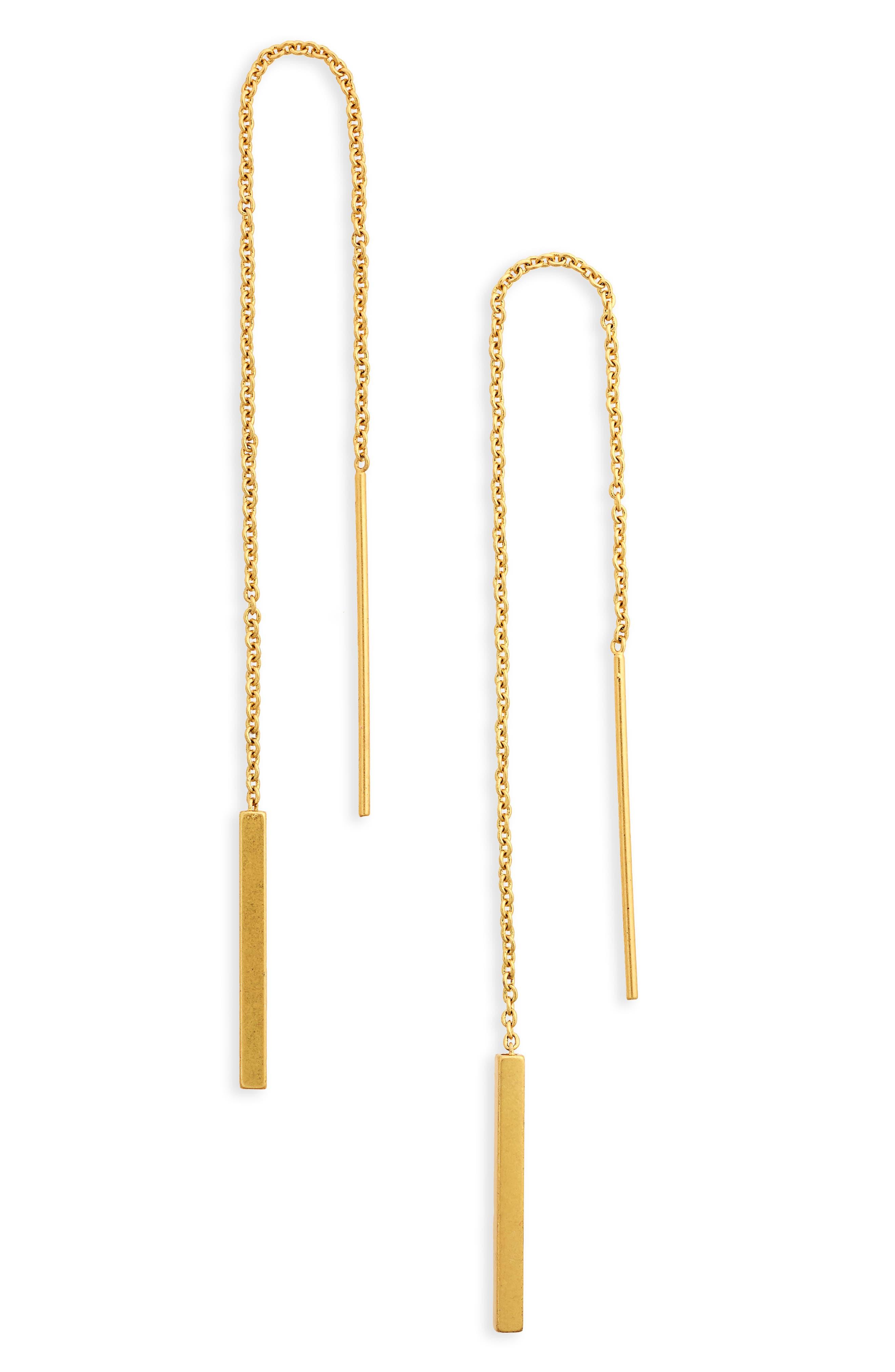 Delicate Threader Earrings,                             Main thumbnail 1, color,                             710