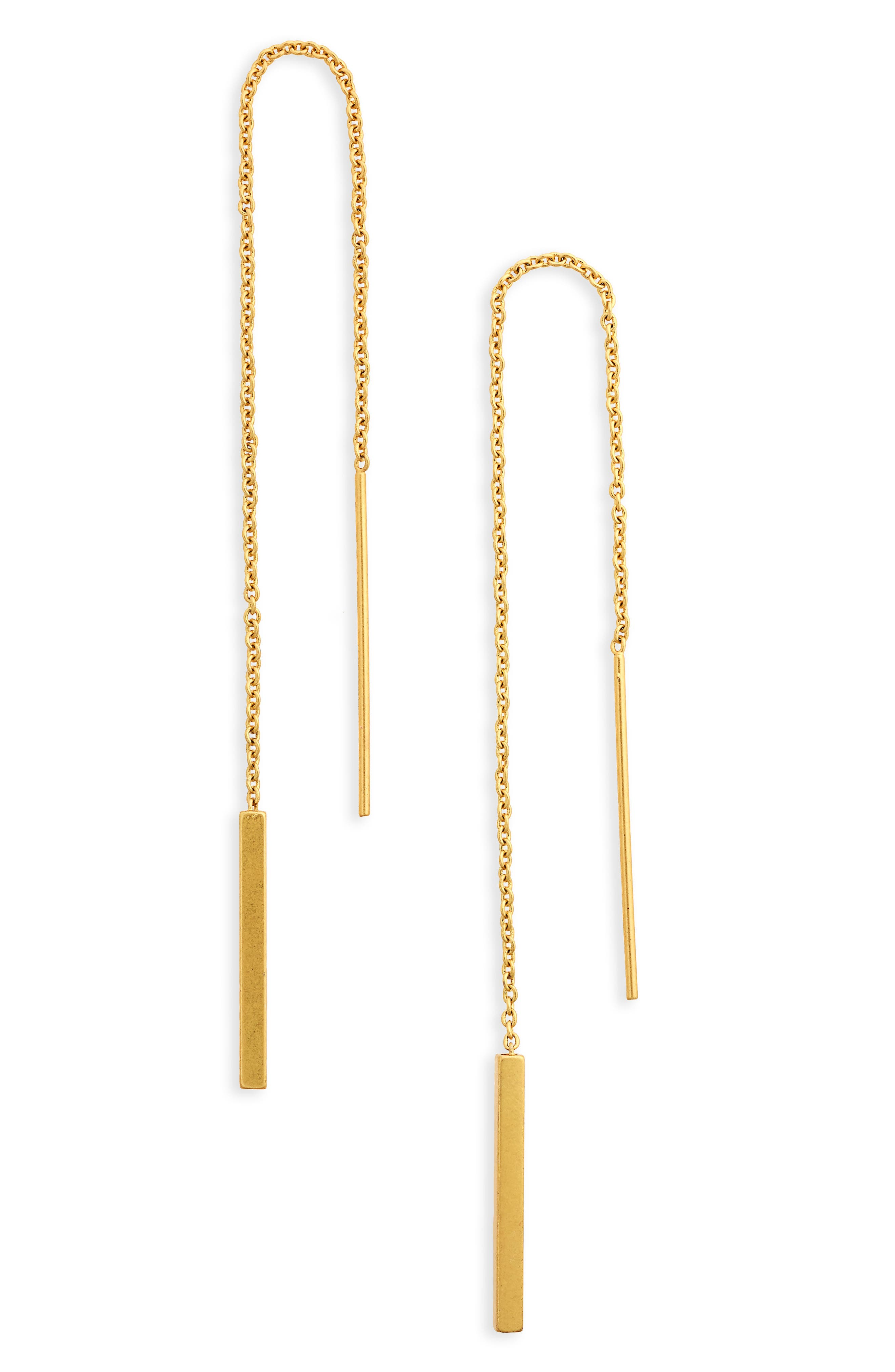 Delicate Threader Earrings,                         Main,                         color, 710
