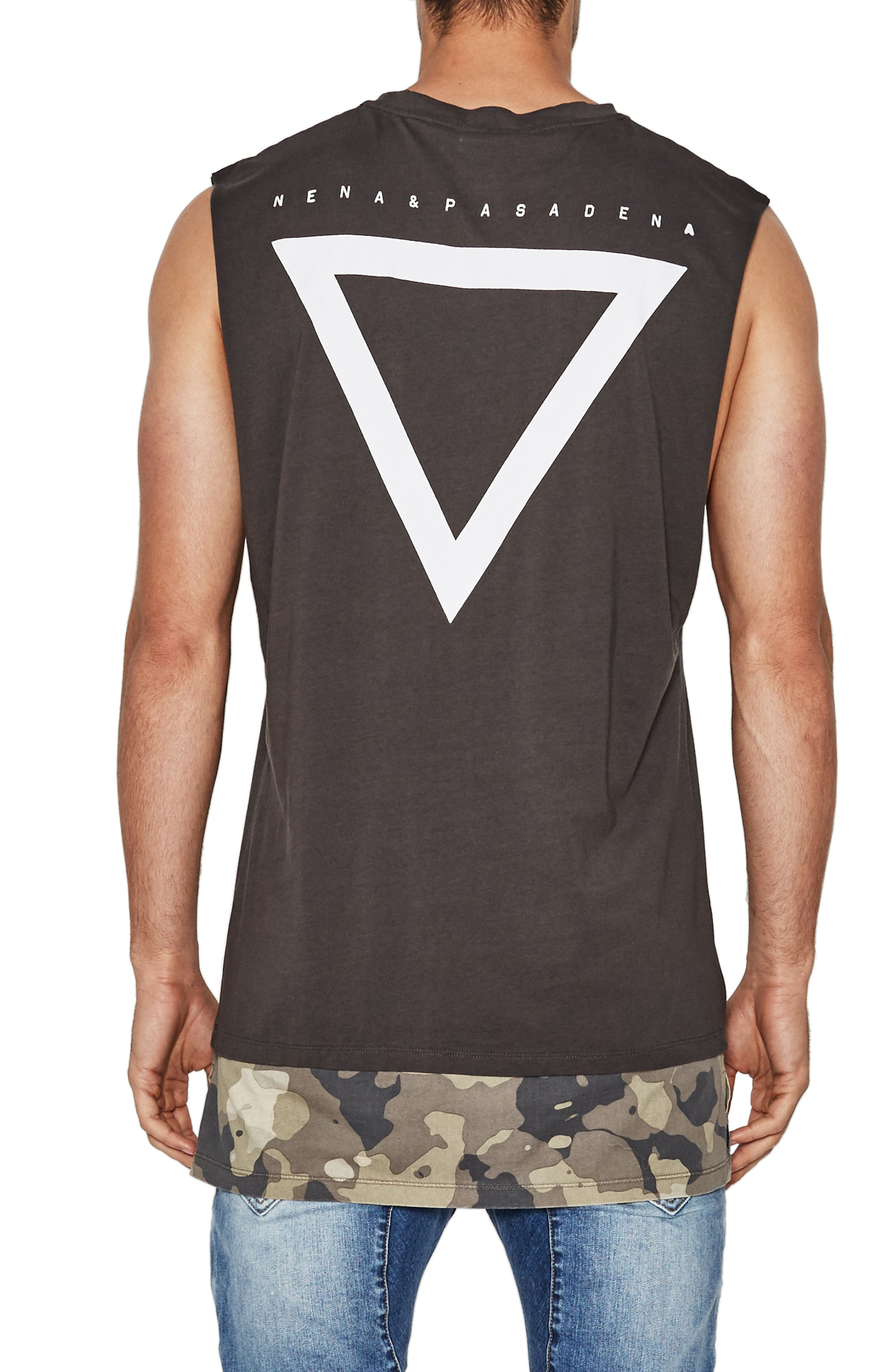 Pusher Double Layer Sleeveless T-Shirt,                             Alternate thumbnail 2, color,