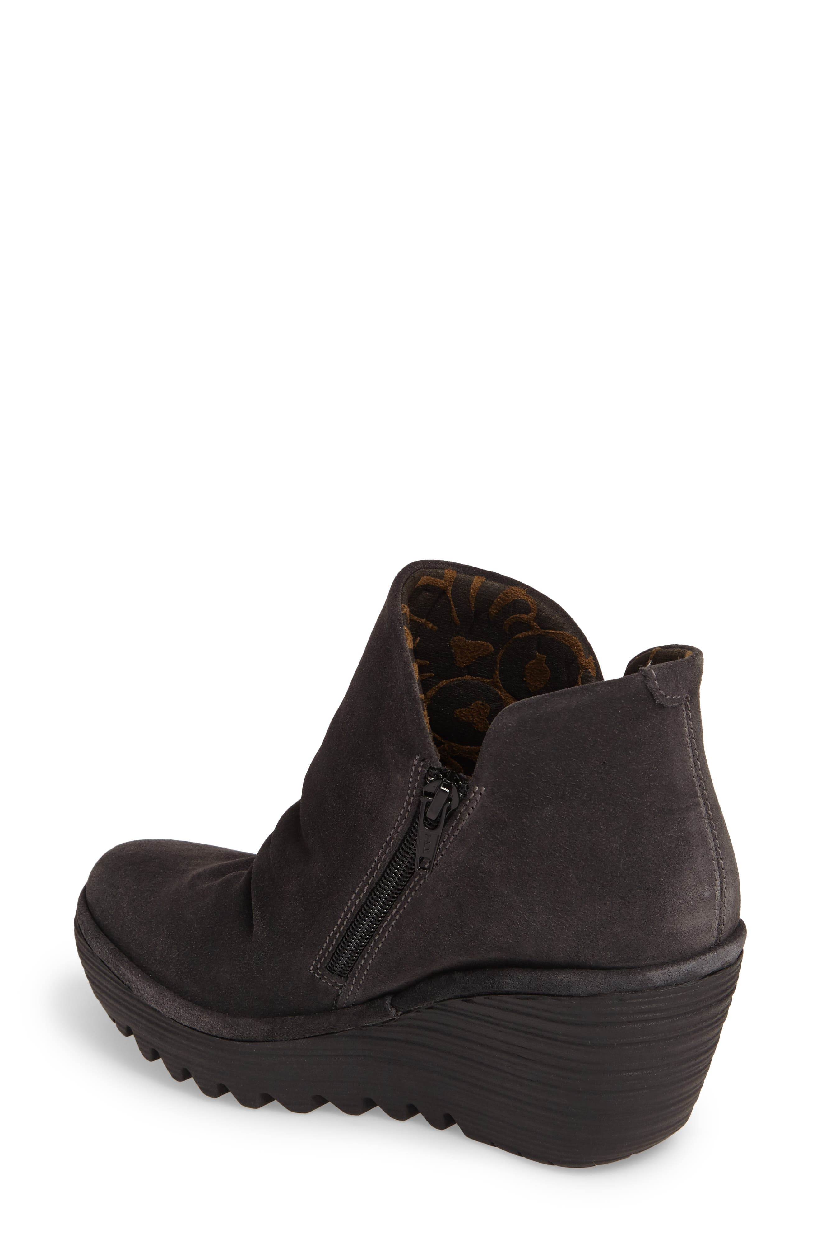 'Yip' Wedge Bootie,                             Alternate thumbnail 2, color,                             BLACK