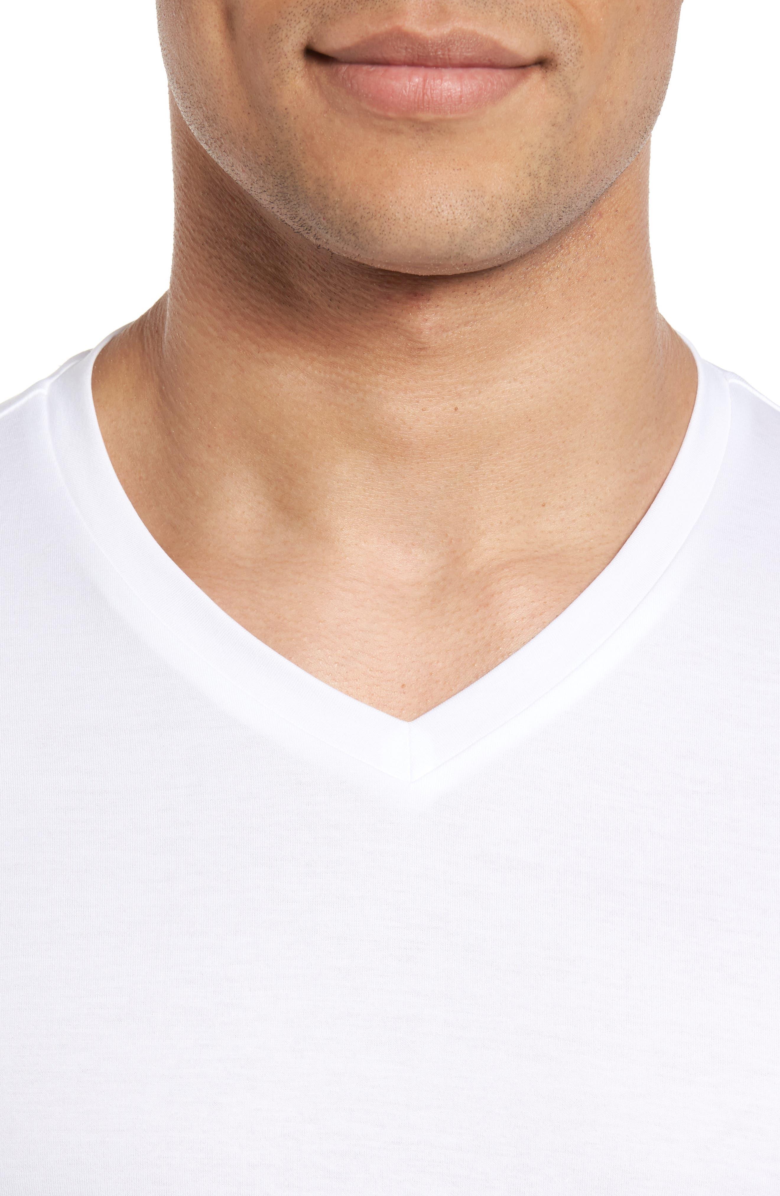 V-Neck T-Shirt,                             Alternate thumbnail 4, color,                             WHITE