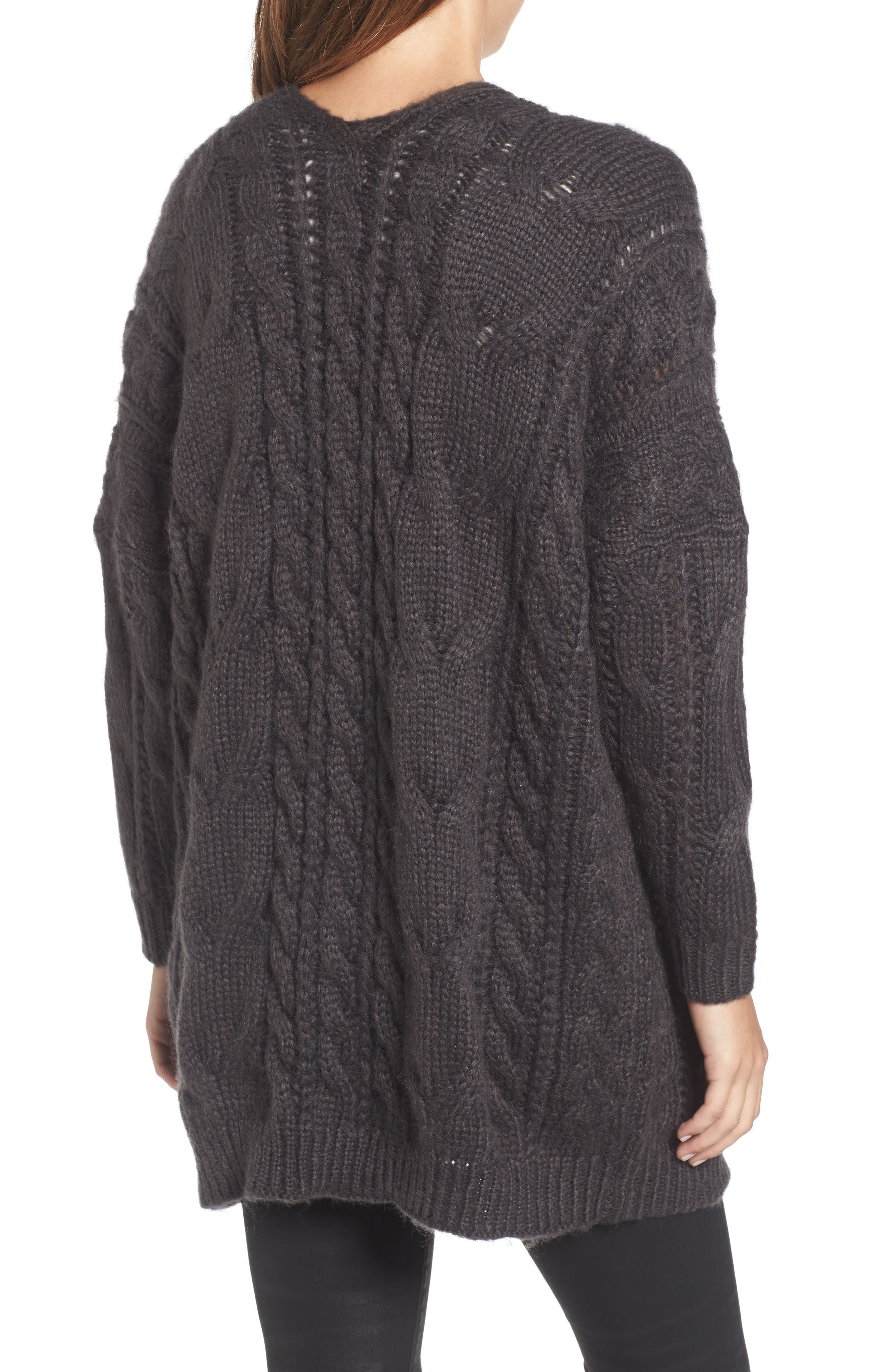 Cable Knit Cardigan,                             Alternate thumbnail 2, color,                             030
