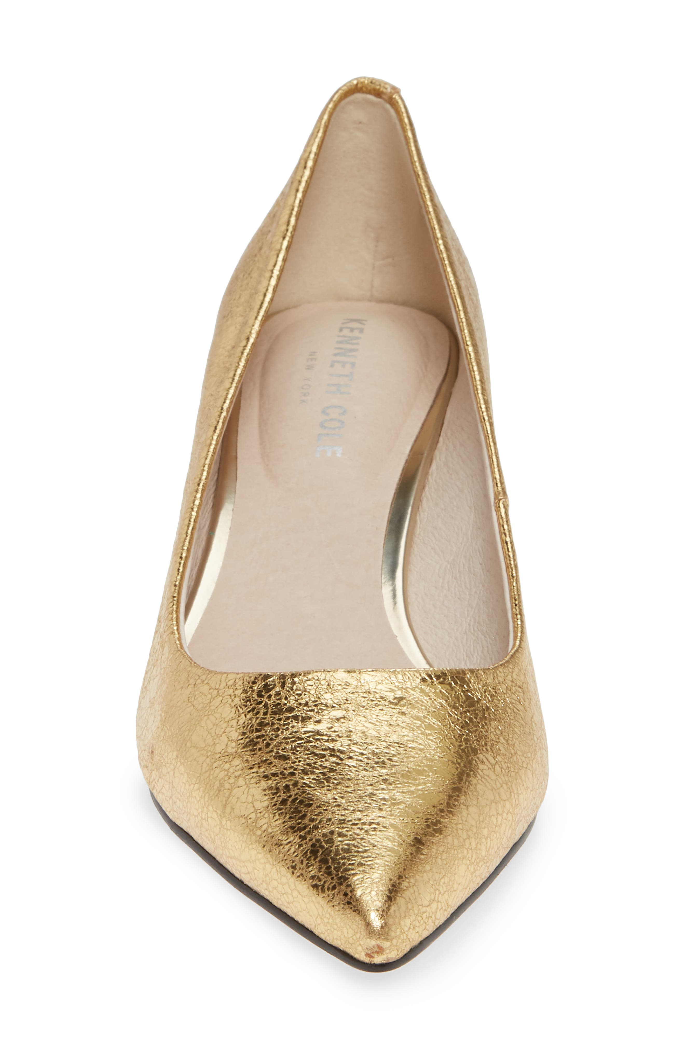 Riley 50 Pump,                             Alternate thumbnail 4, color,                             YELLOW GOLD LEATHER