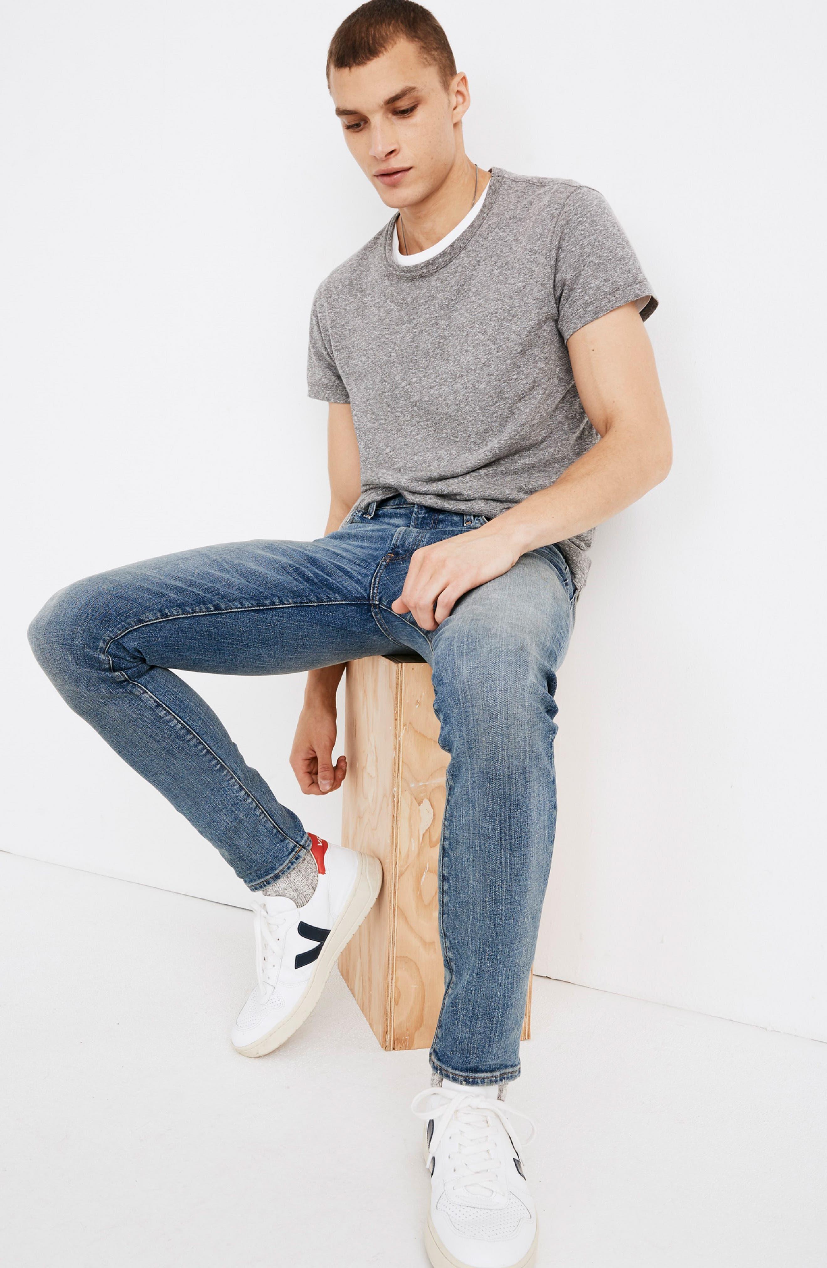 Skinny Jeans,                             Alternate thumbnail 4, color,                             BAYWOOD WASH