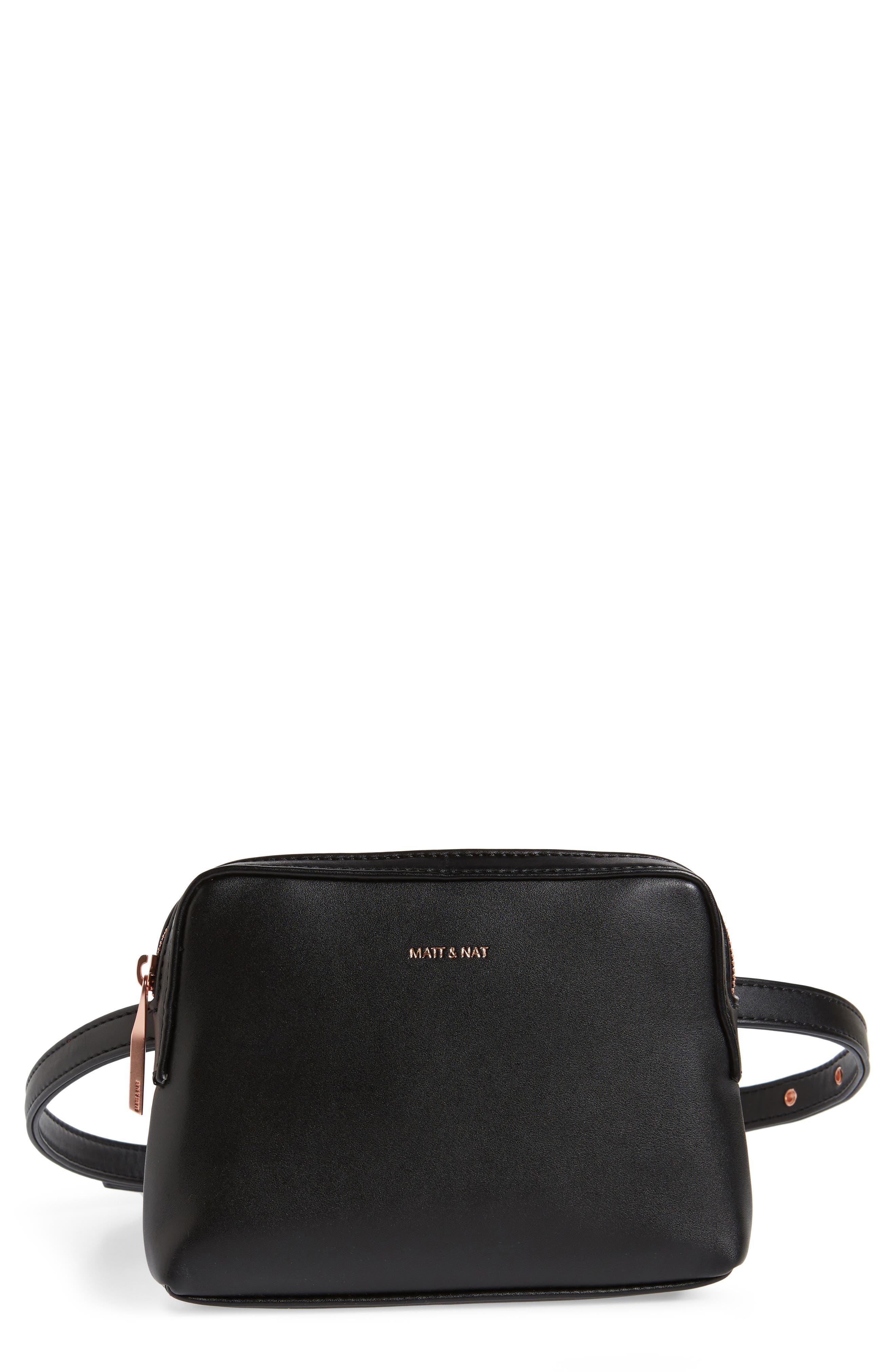 Matt & Nat Paris Faux Leather Belt Bag - Black