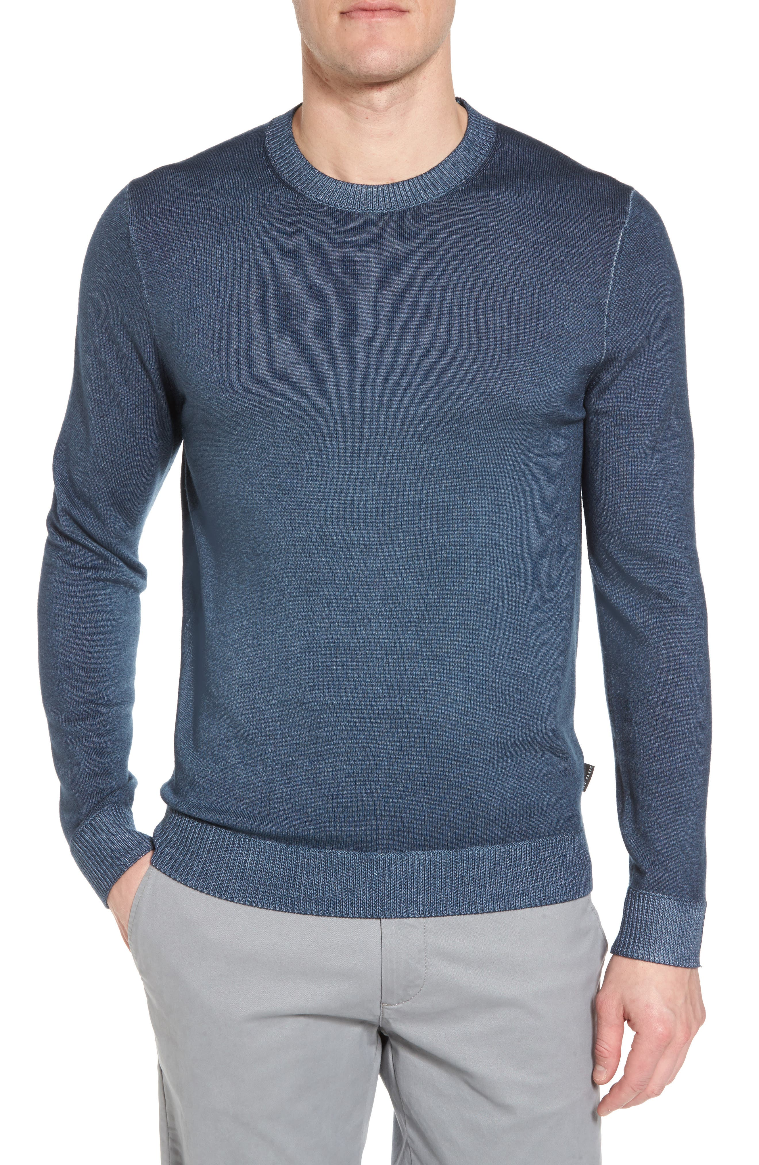 Lucky Trim Fit Wool Sweater,                         Main,                         color, 420