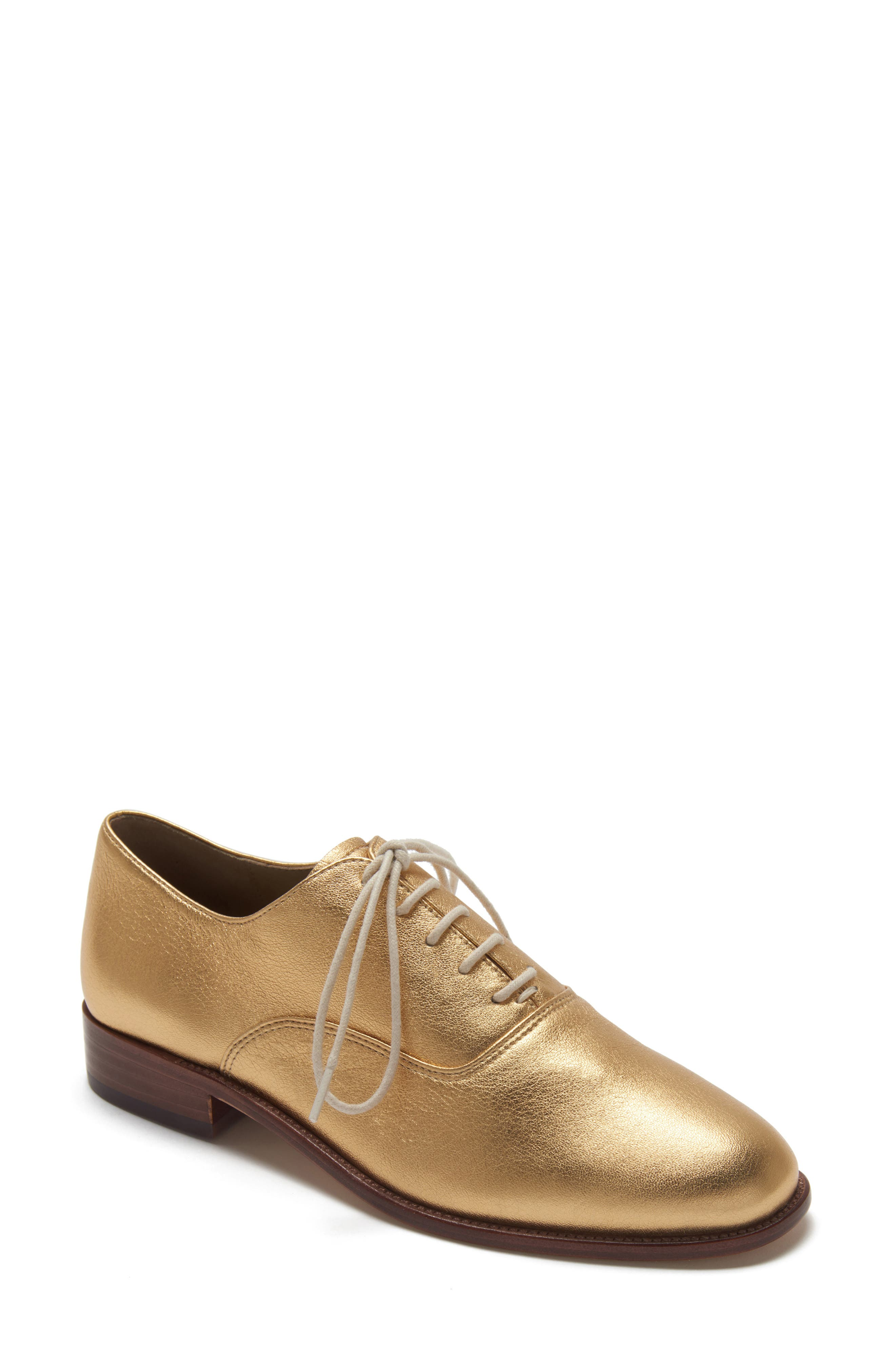 ETIENNE AIGNER Emery Lace-Up Oxford in Oro Leather