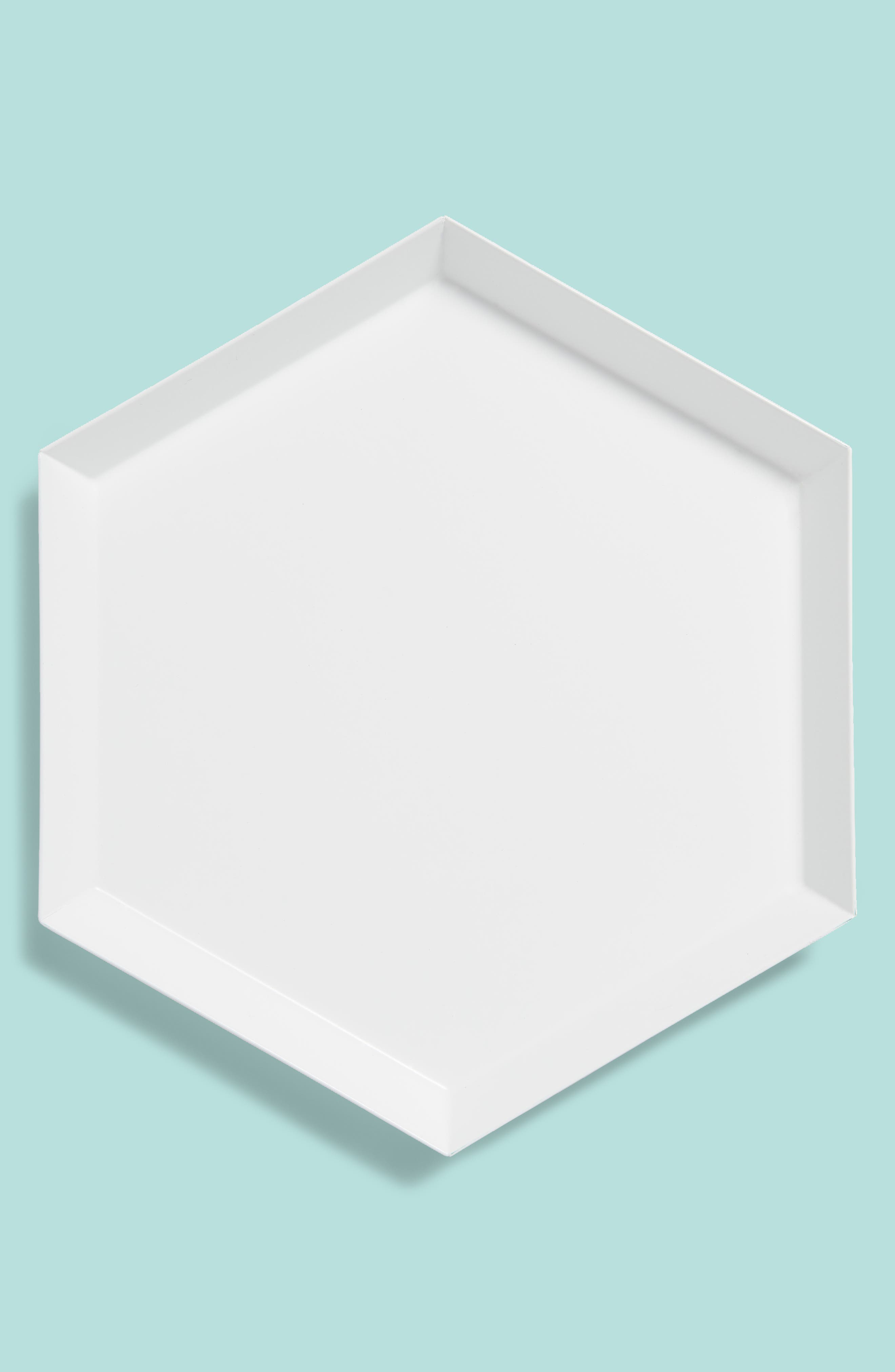Small Kaleido Powder Coated Steel Tray,                         Main,                         color, 100