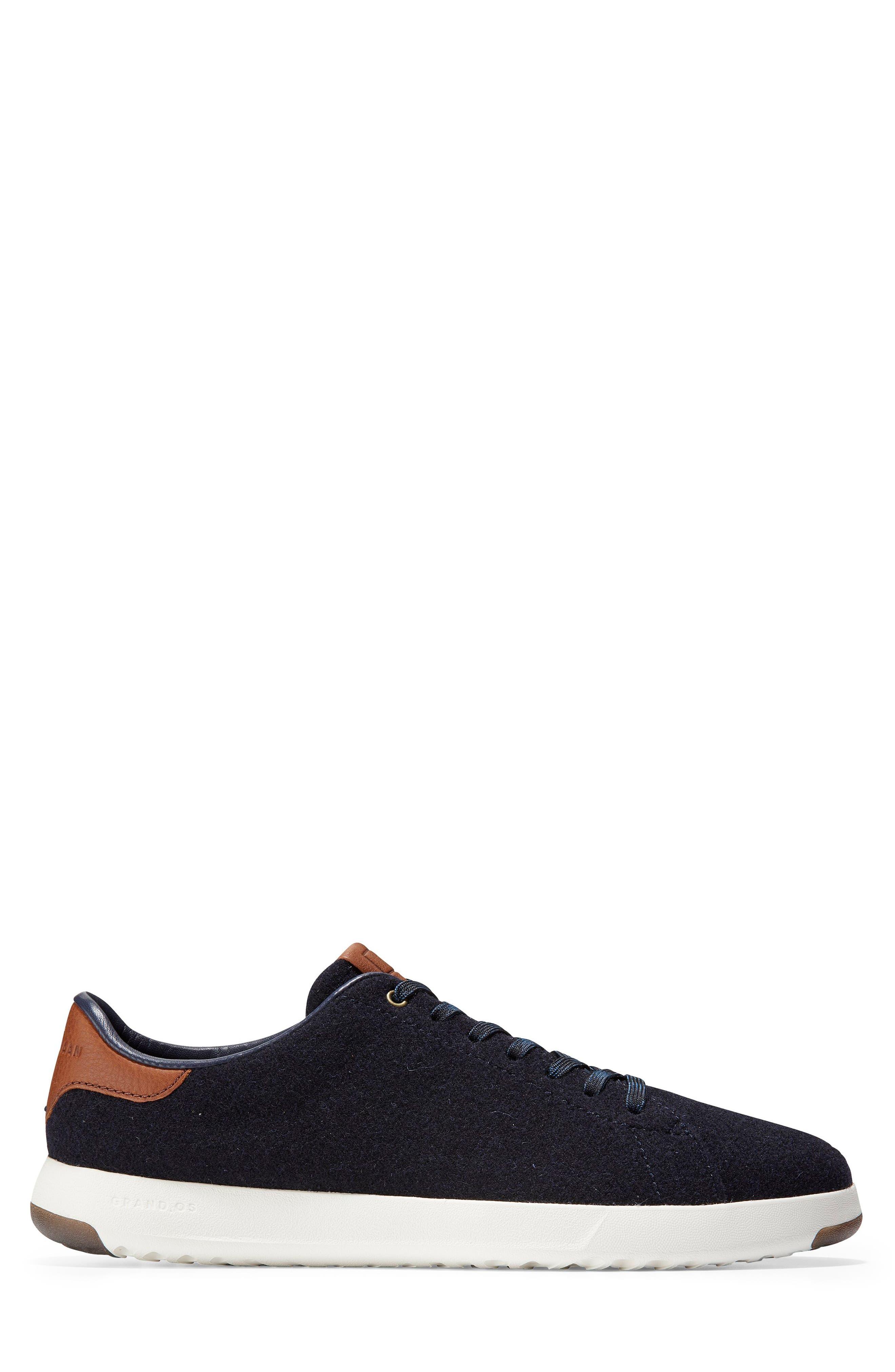 GrandPro Tennis Sneaker,                             Alternate thumbnail 3, color,                             NAVY INK WOOL/ BRITISH TAN