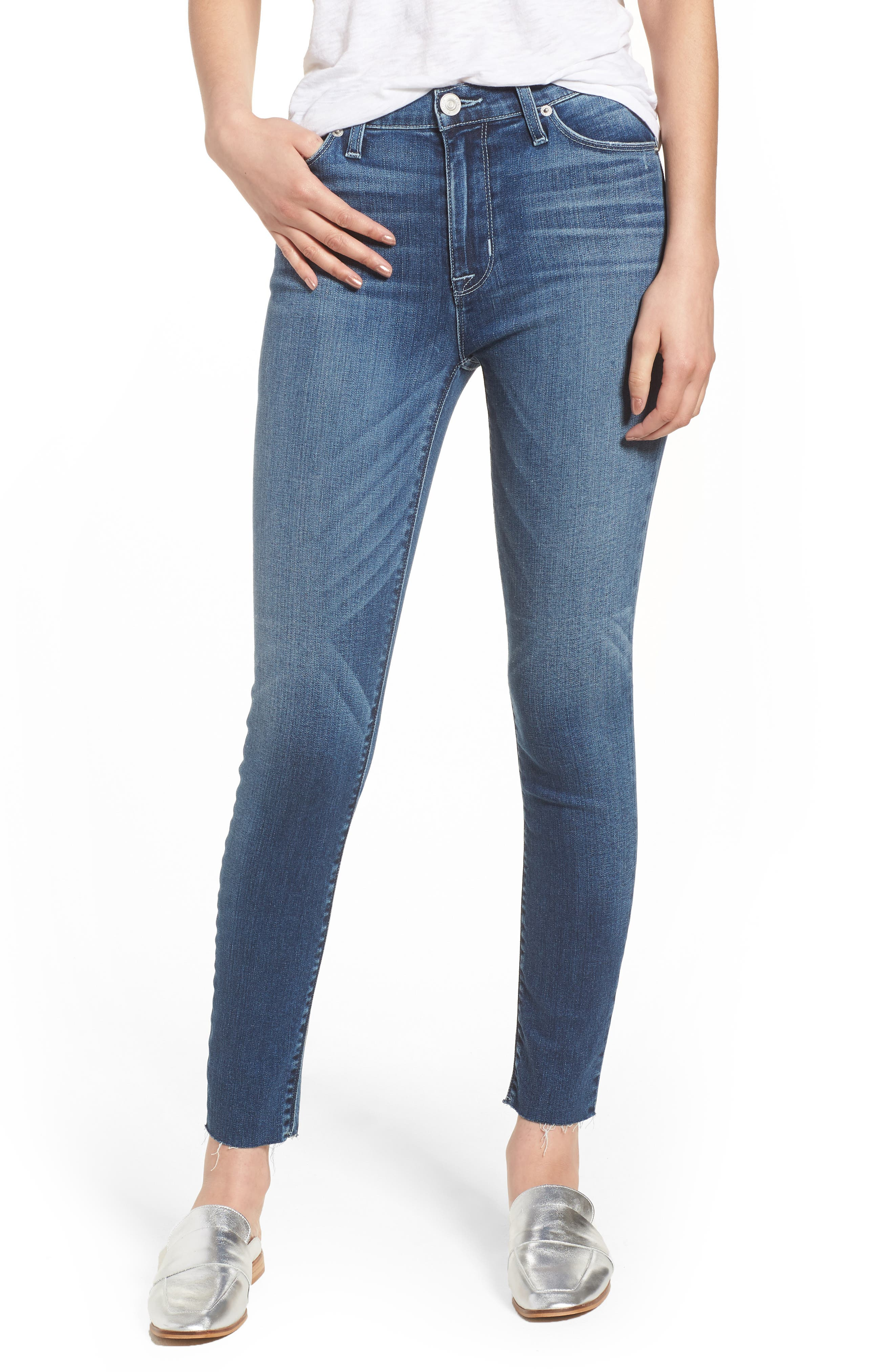 Hudson Barbara High Waist Ankle Skinny Jeans,                         Main,                         color, CONTENDER
