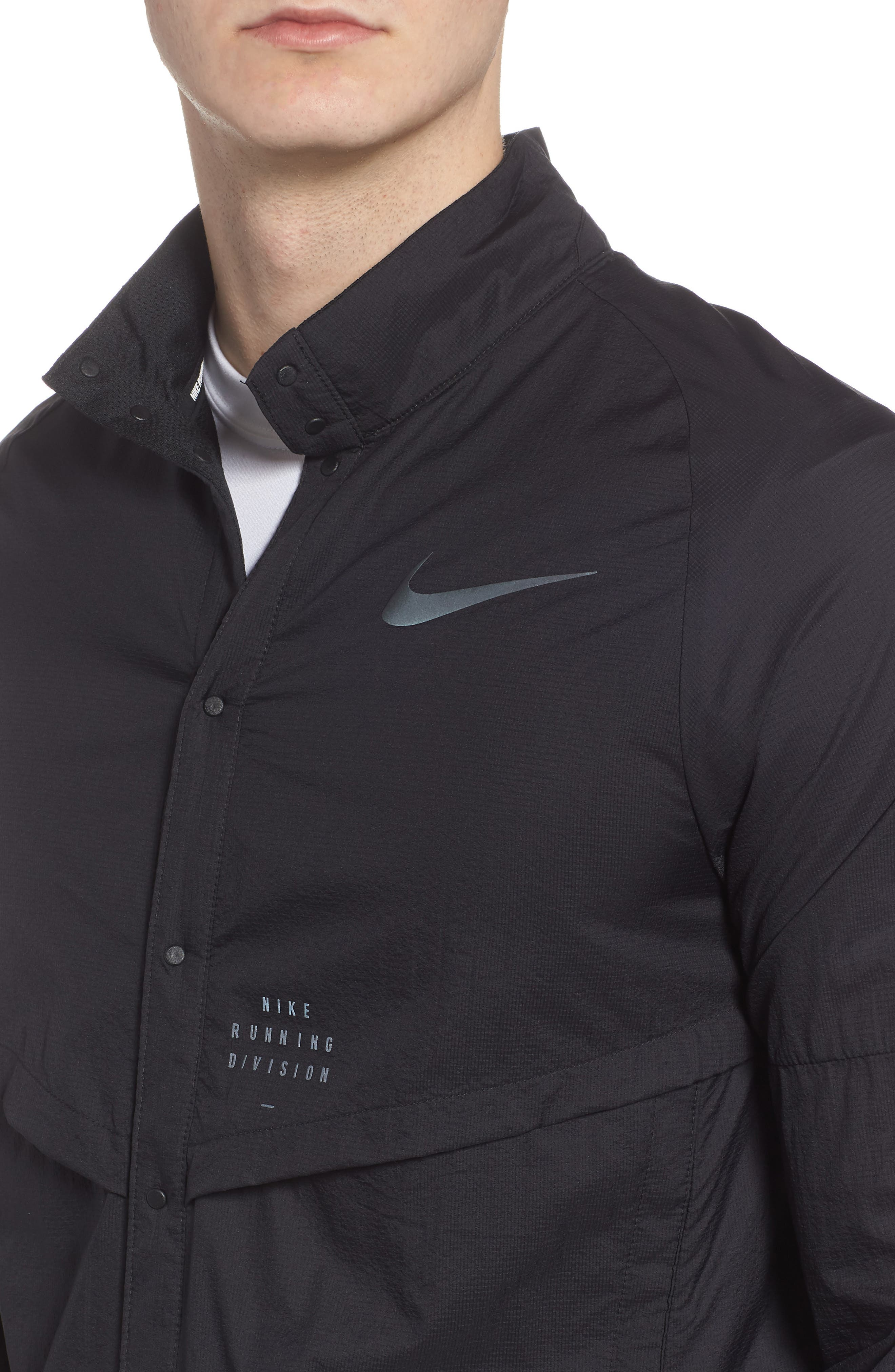Run Division Jacket,                             Alternate thumbnail 4, color,                             BLACK