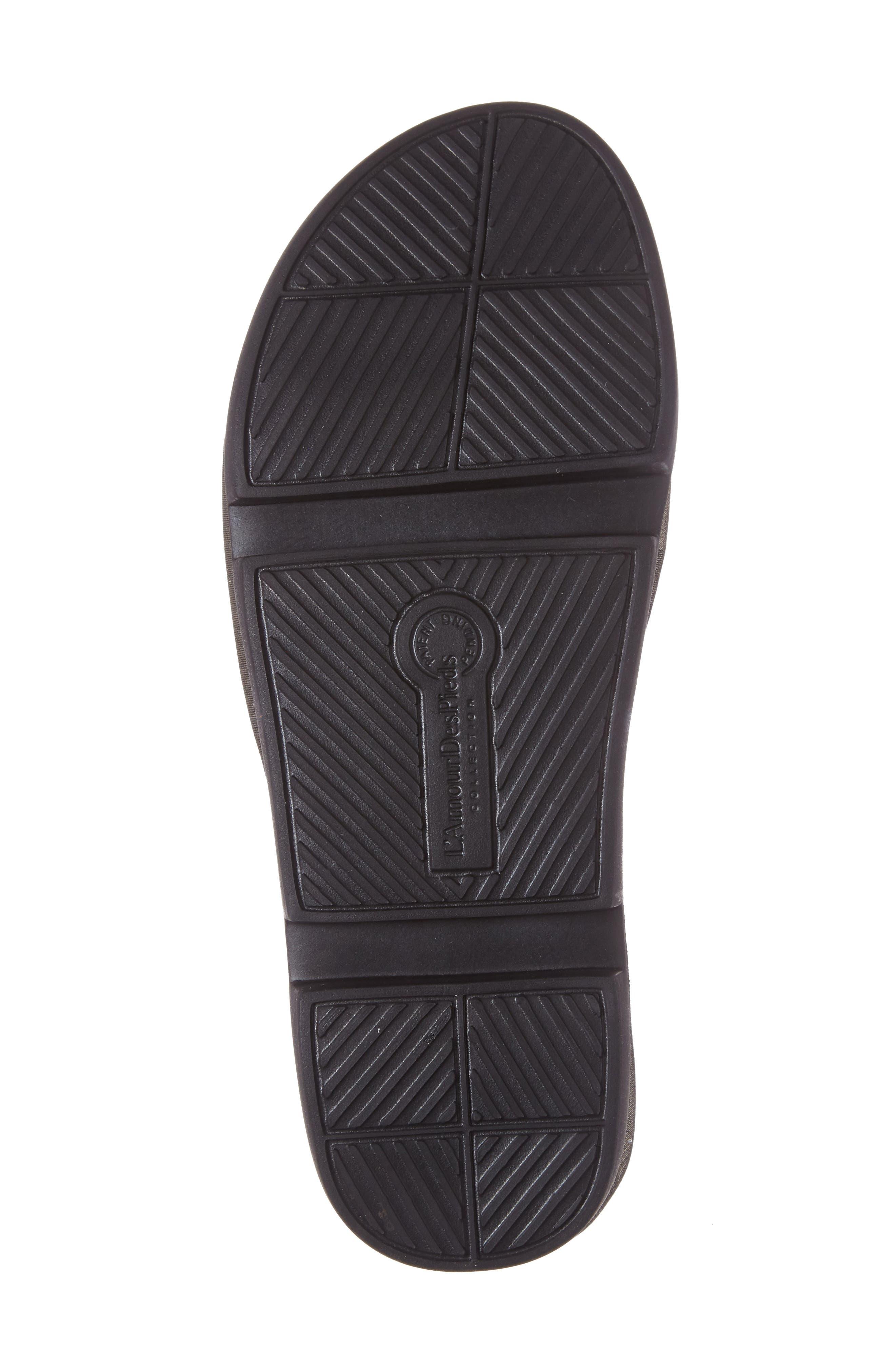 Viareggio Slide Sandal,                             Alternate thumbnail 4, color,                             BLACK ATHENA LEATHER