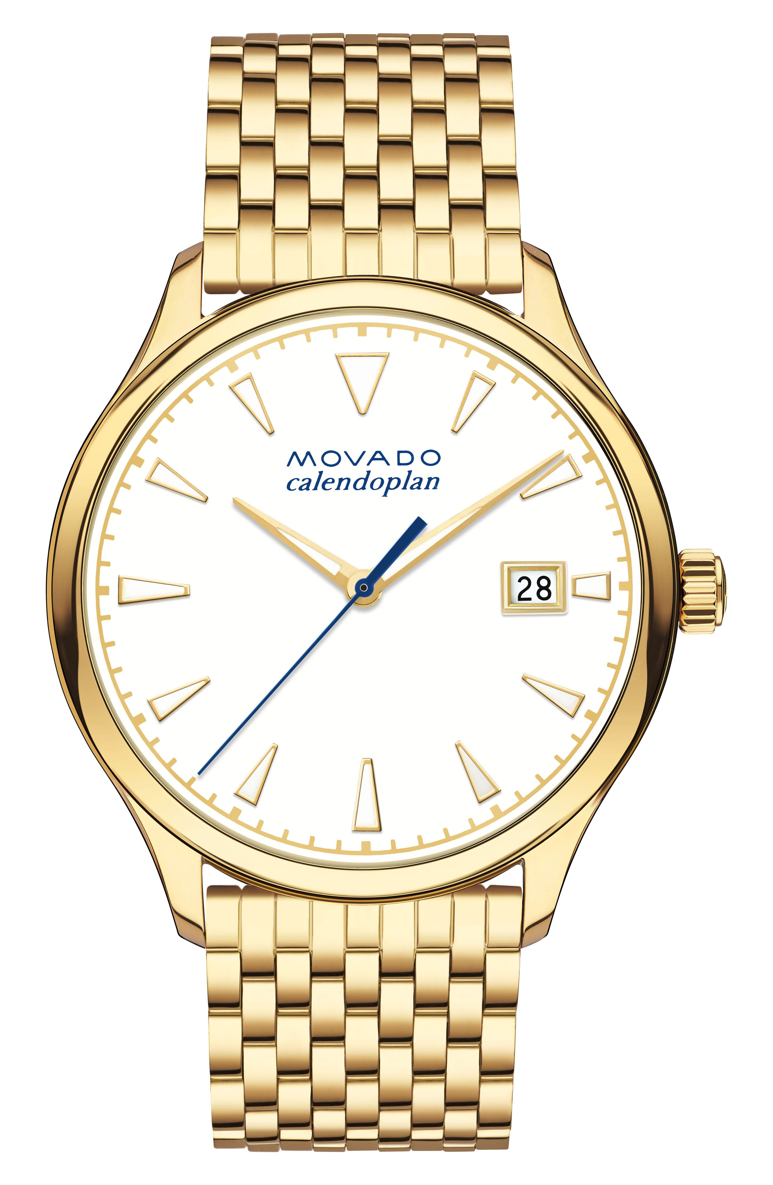 Heritage Bracelet Watch, 36mm,                             Main thumbnail 1, color,                             GOLD/ WHITE/ GOLD