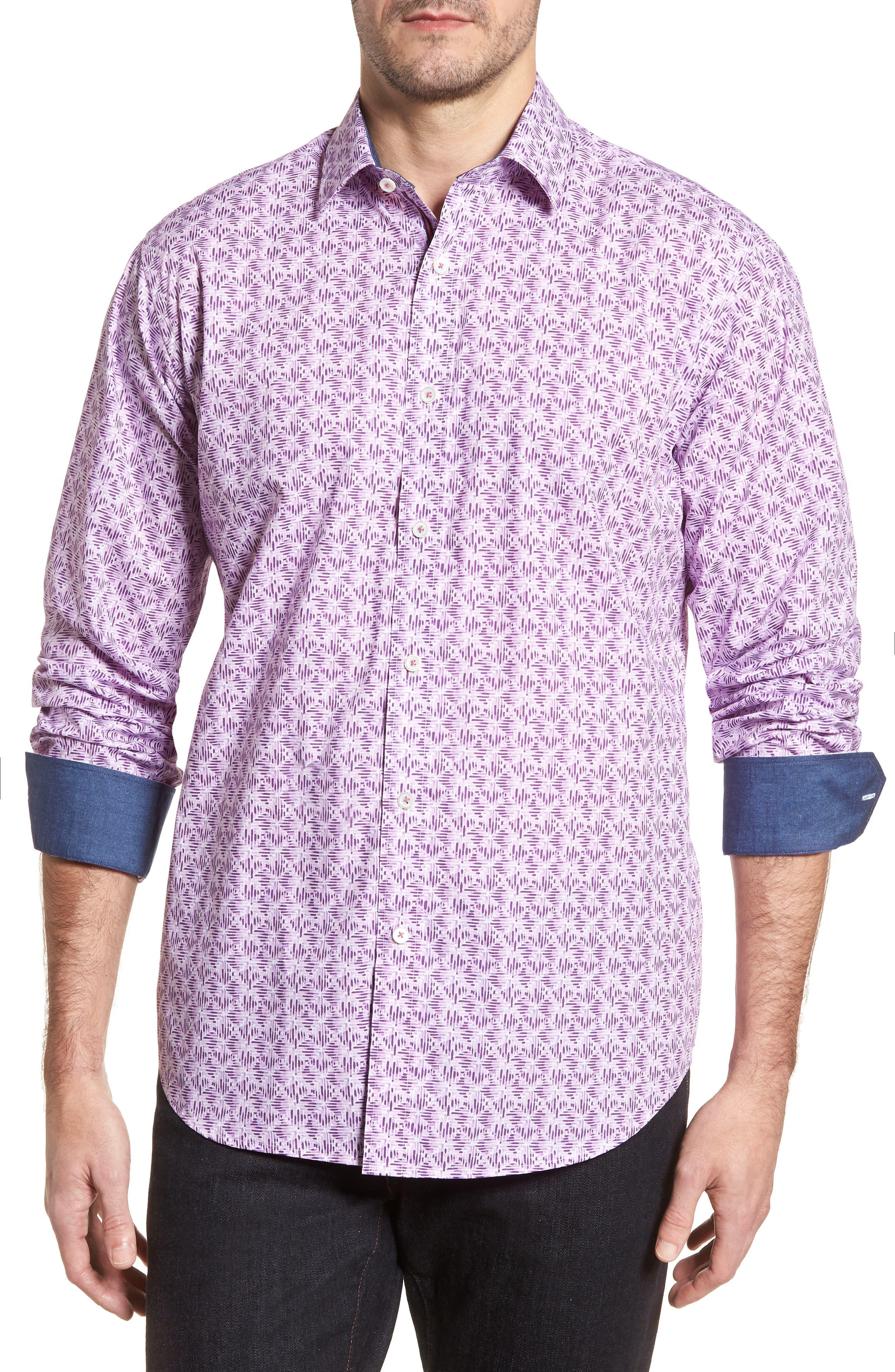Classic Fit Woven Sport Shirt,                             Main thumbnail 1, color,