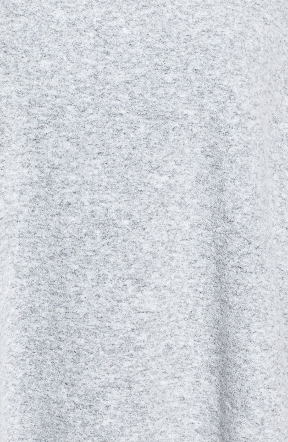 Cozy Knit Turtleneck Poncho,                             Alternate thumbnail 3, color,                             030