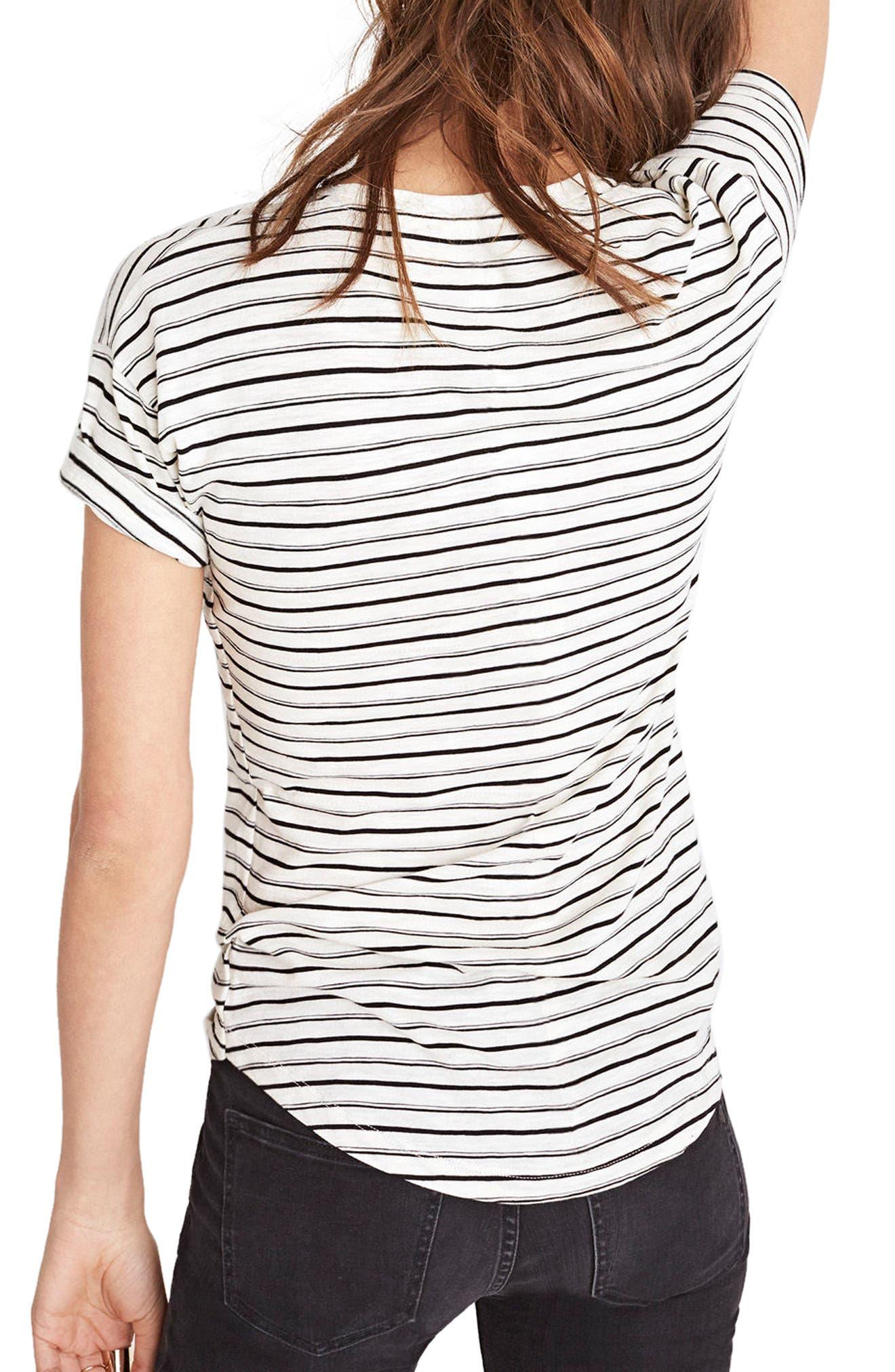 This or That Whisper Cotton Stripe Tee,                             Alternate thumbnail 2, color,                             100