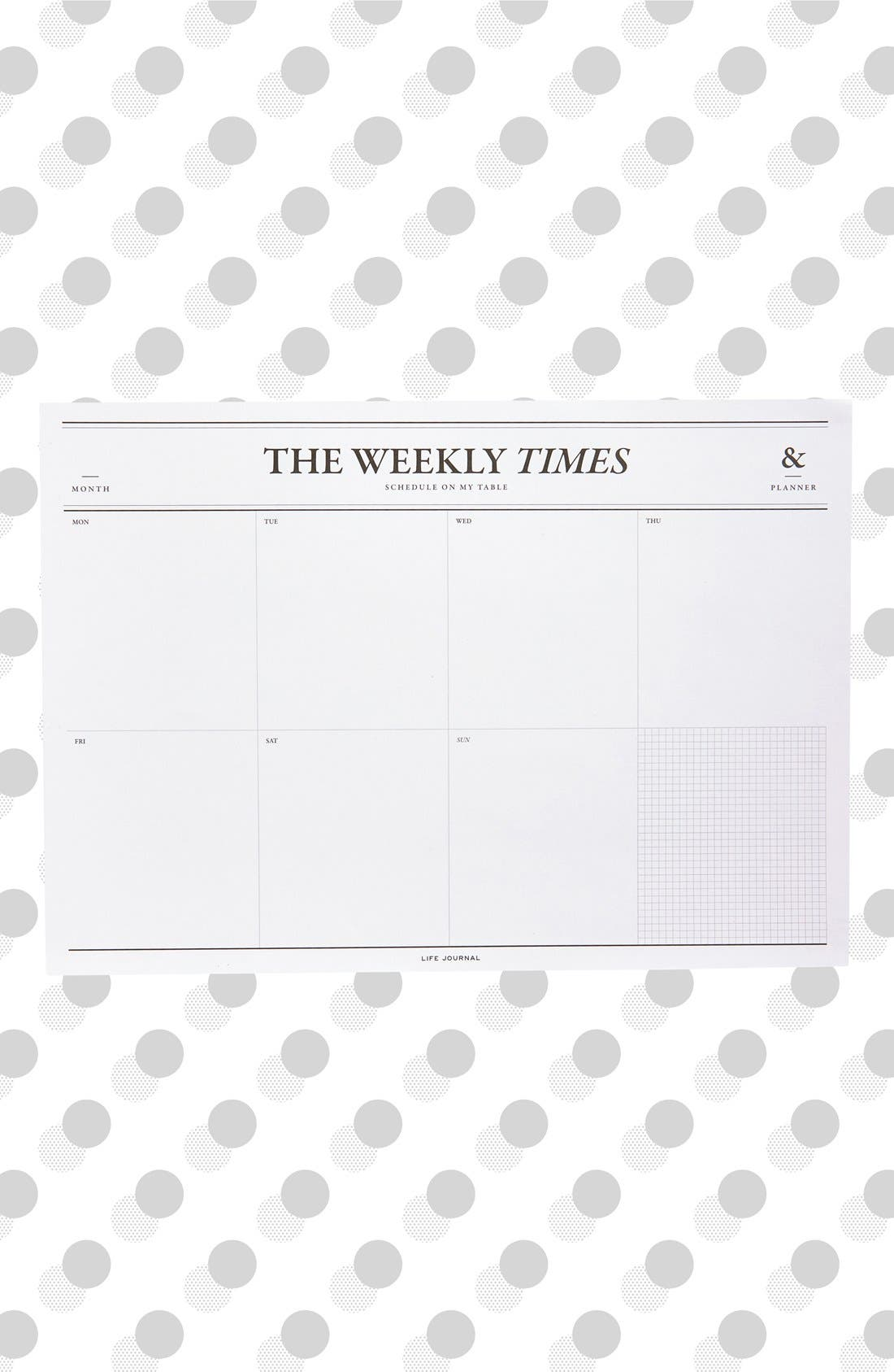 'The Weekly Times' Desk Notepad & Planner, Main, color, 101