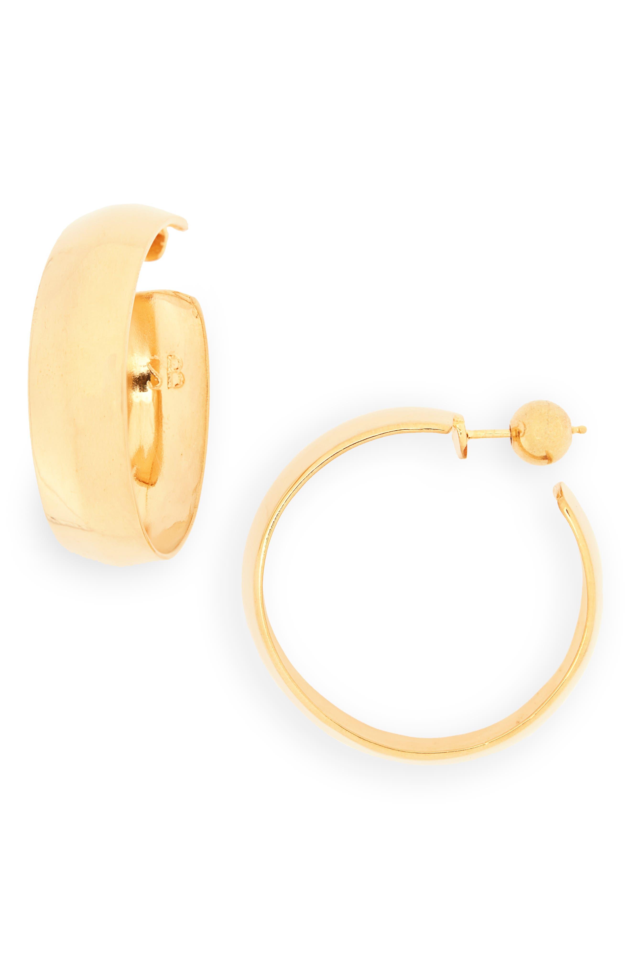 Large Zora Vermeil Hoop Earrings,                             Main thumbnail 1, color,                             18K GOLD VERMEIL
