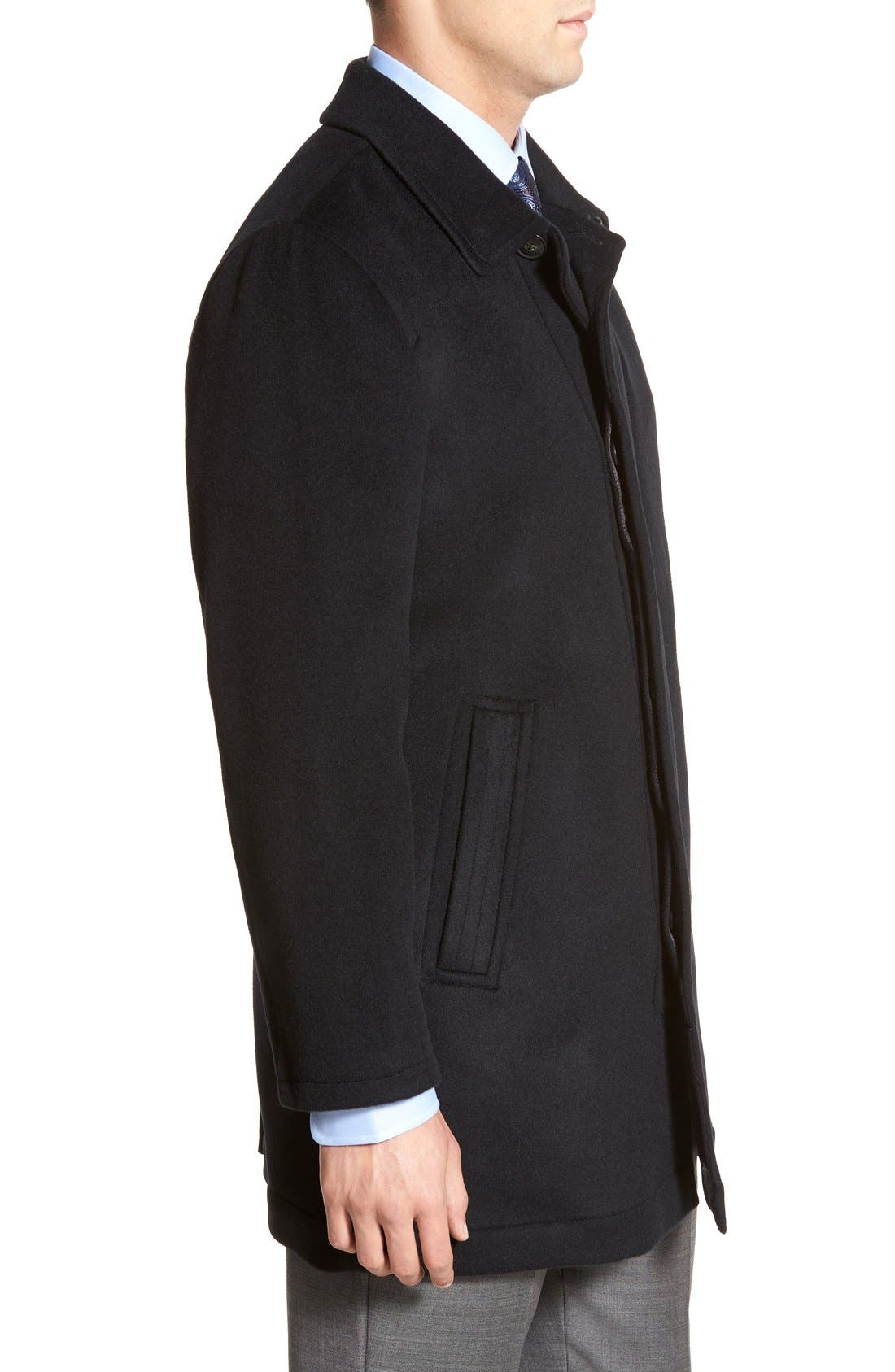 Douglas Modern Fit Wool & Cashmere Overcoat,                             Alternate thumbnail 7, color,