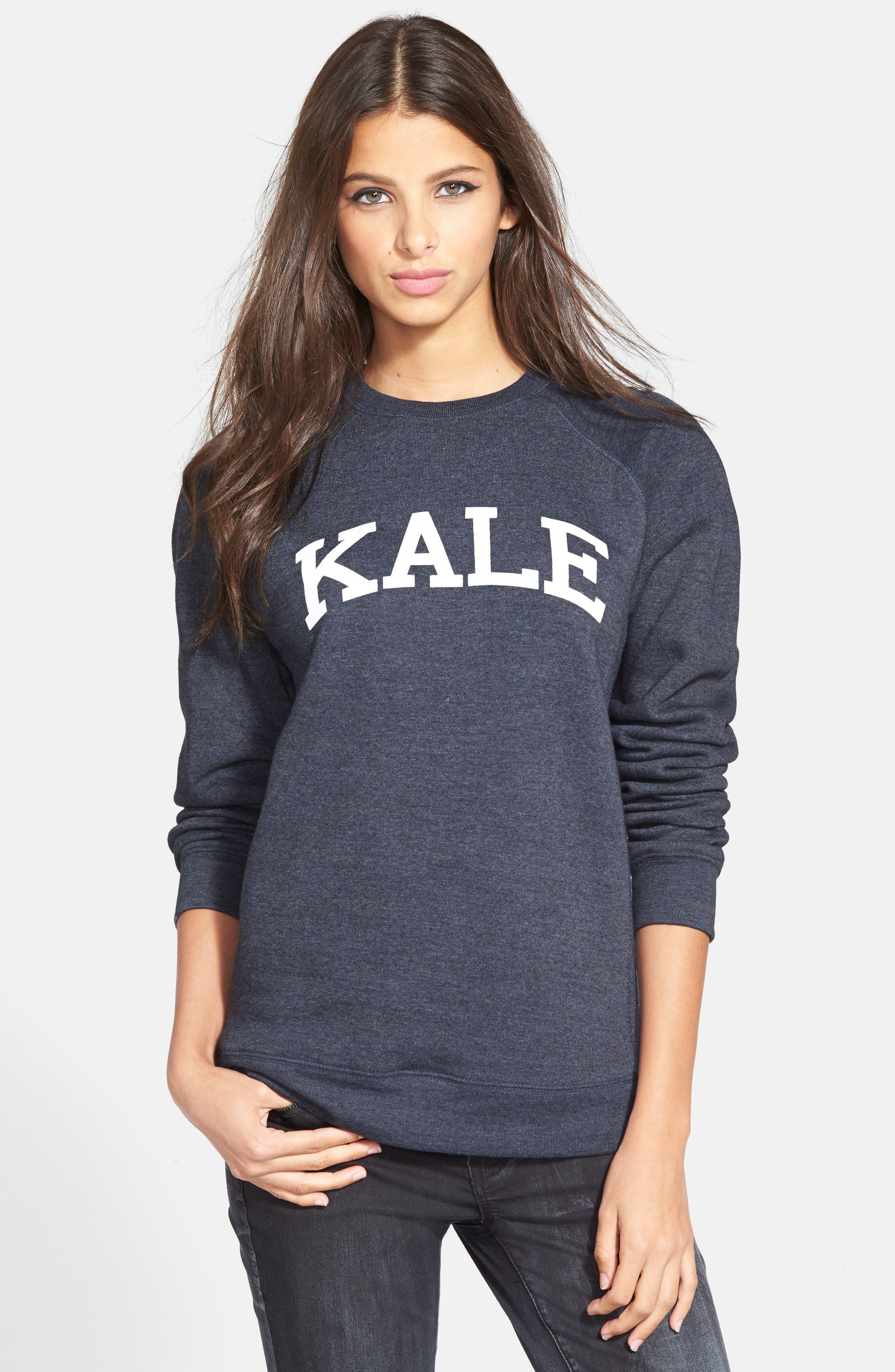 'Kale' Raglan Sweatshirt,                             Alternate thumbnail 2, color,                             410