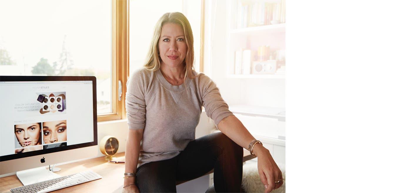 Celebrity makeup artist Fiona Stiles.