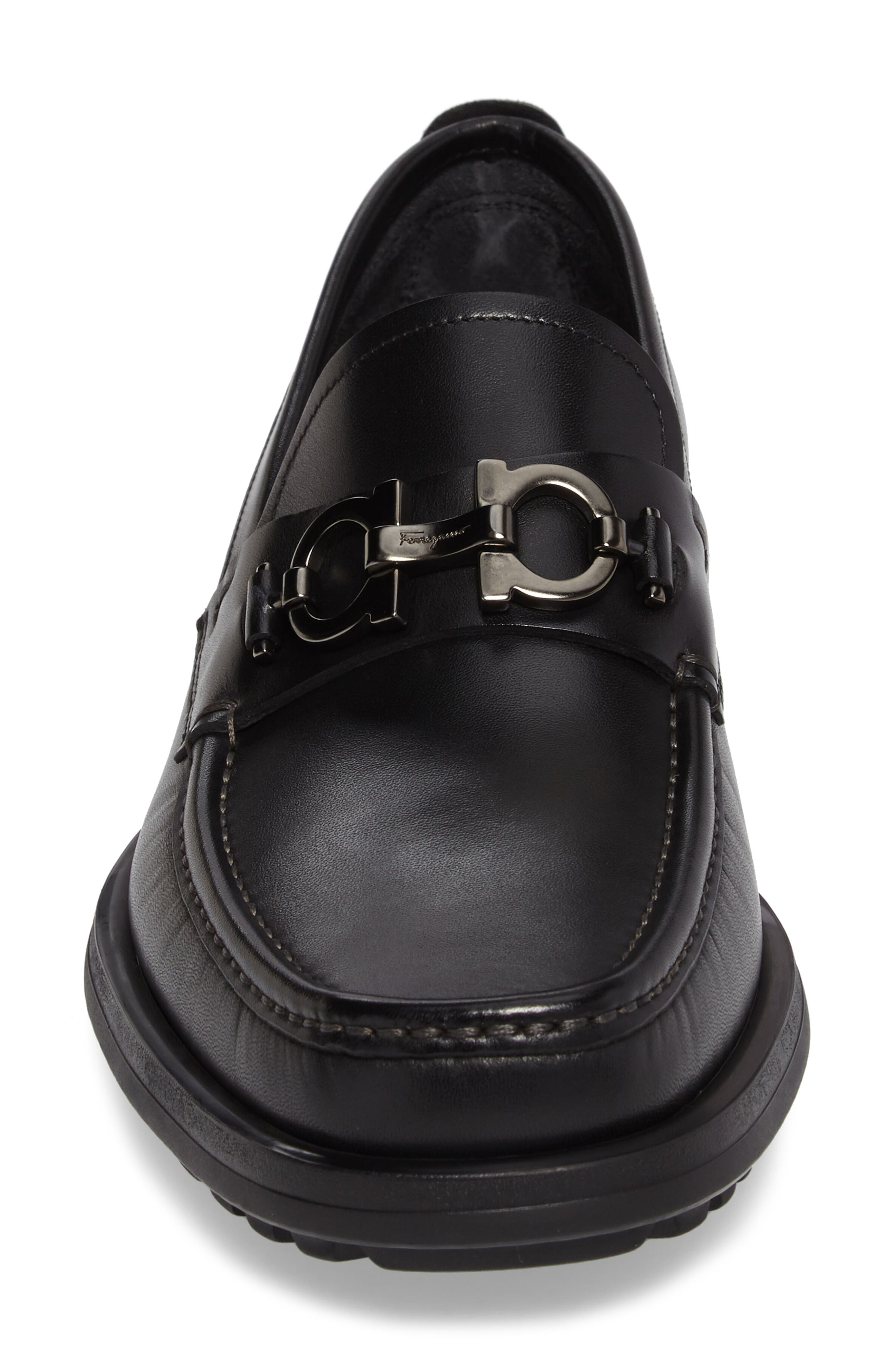 David Bit Loafer,                             Alternate thumbnail 4, color,                             BLACK LEATHER