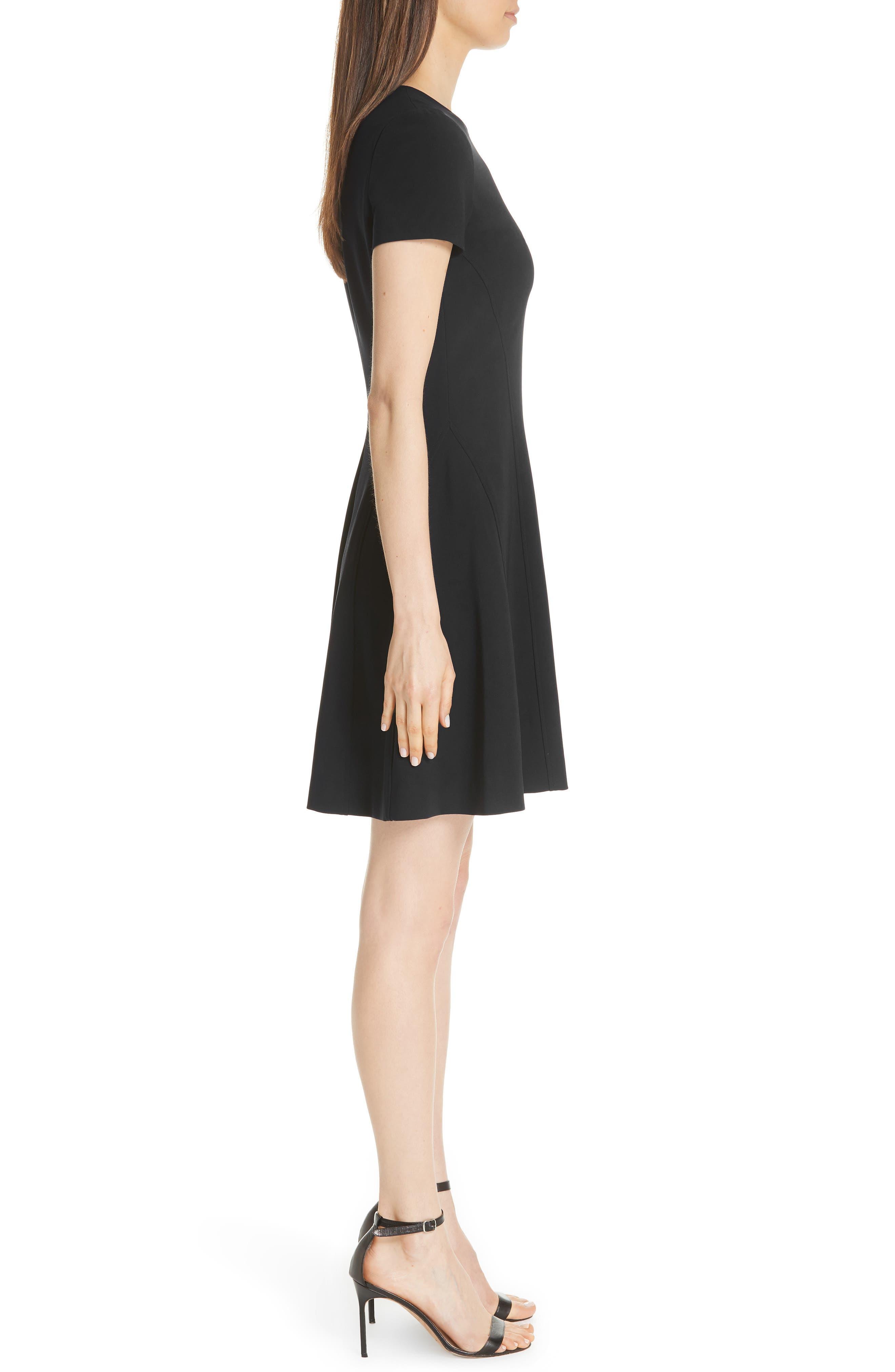 Modern Seamed Dress,                             Alternate thumbnail 3, color,                             001
