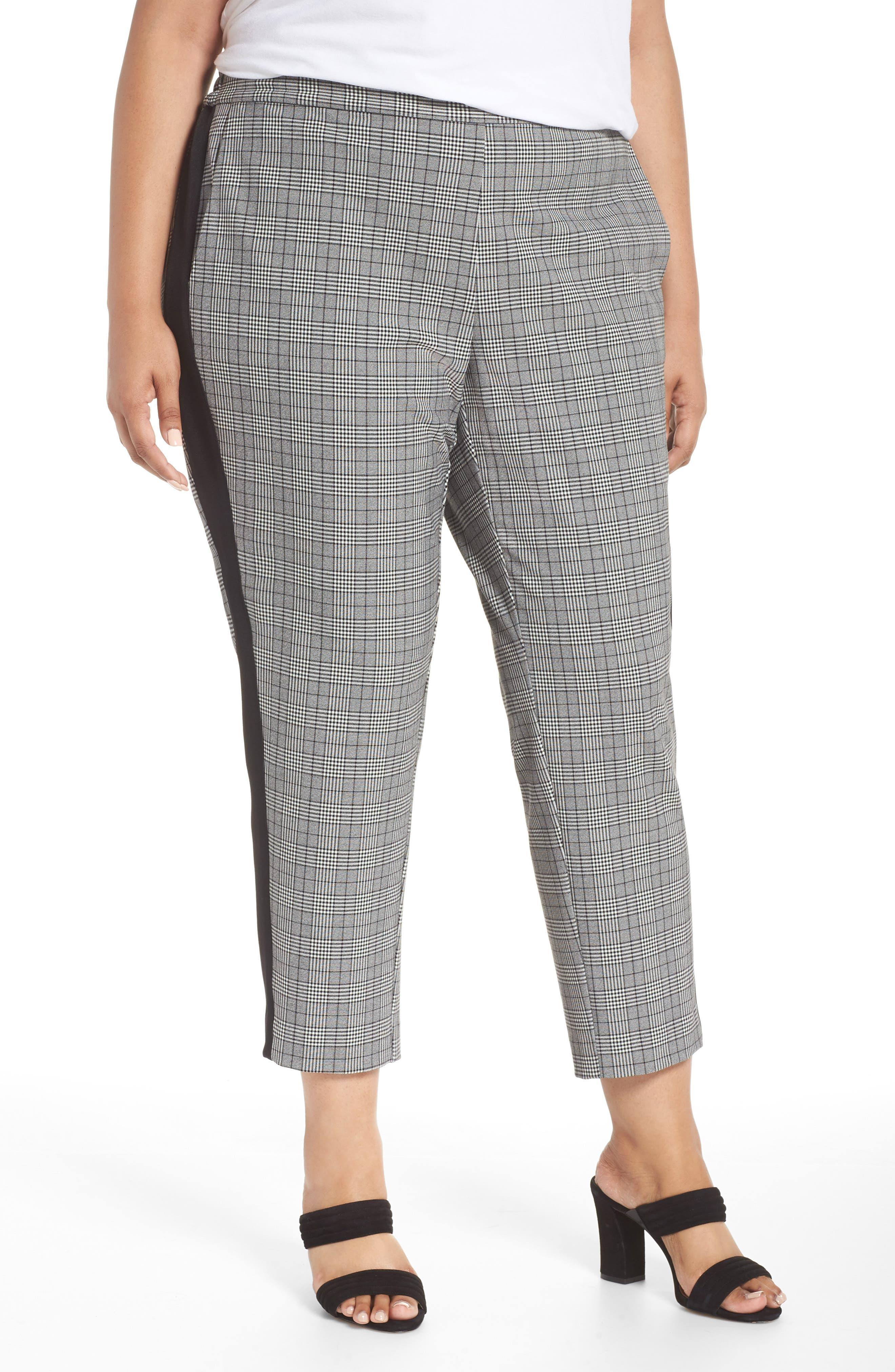Menswear Crop Pants,                             Main thumbnail 1, color,                             HEATHER GREY COMBO