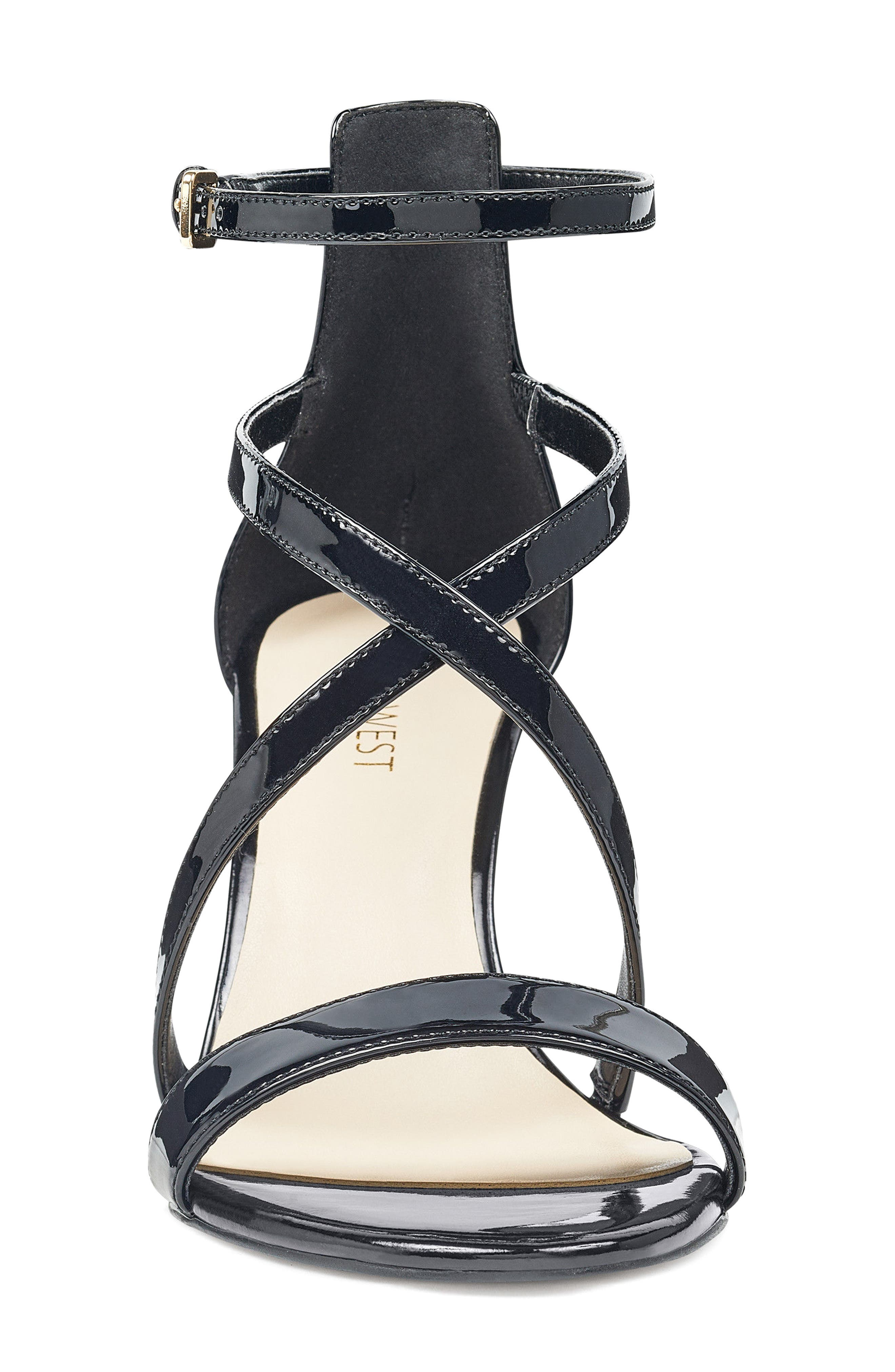 NINE WEST,                             Retail Therapy Strappy Sandal,                             Alternate thumbnail 4, color,                             001