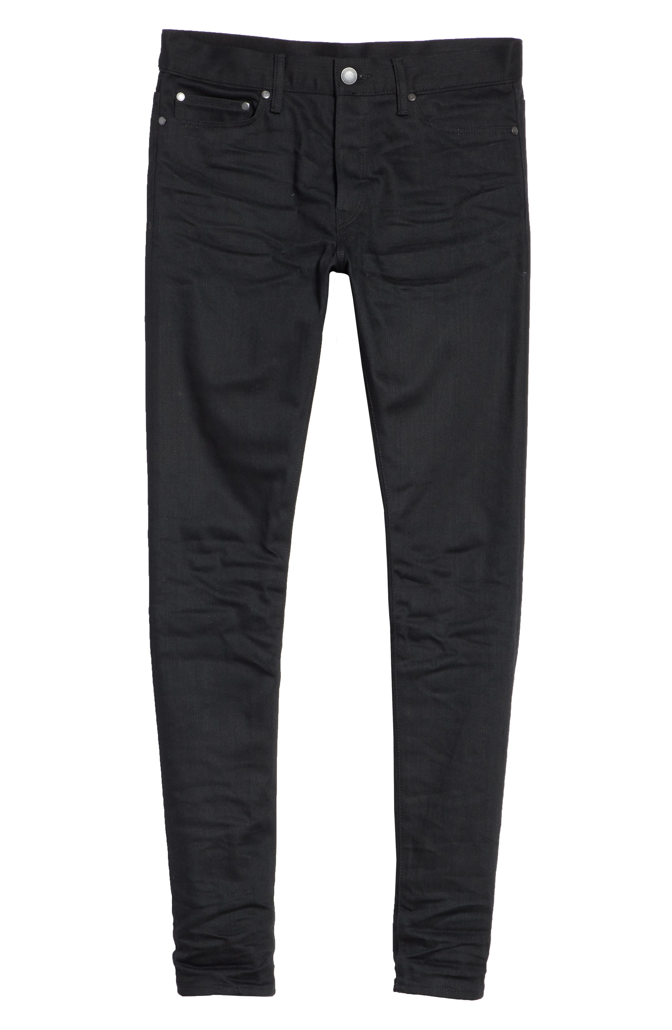 The Cast 2 Skinny Fit Jeans,                             Alternate thumbnail 6, color,                             OBSIDIAN