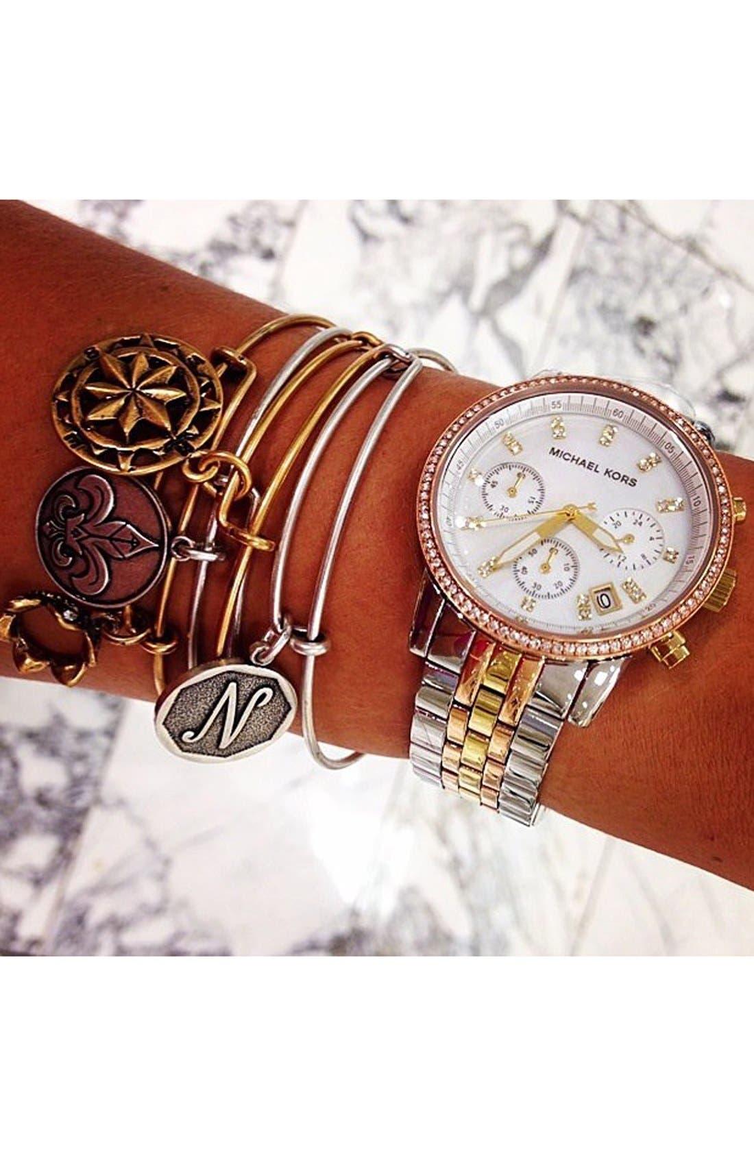 Michael Kors 'Ritz' Chronograph Bracelet Watch, 36mm,                             Alternate thumbnail 5, color,                             040