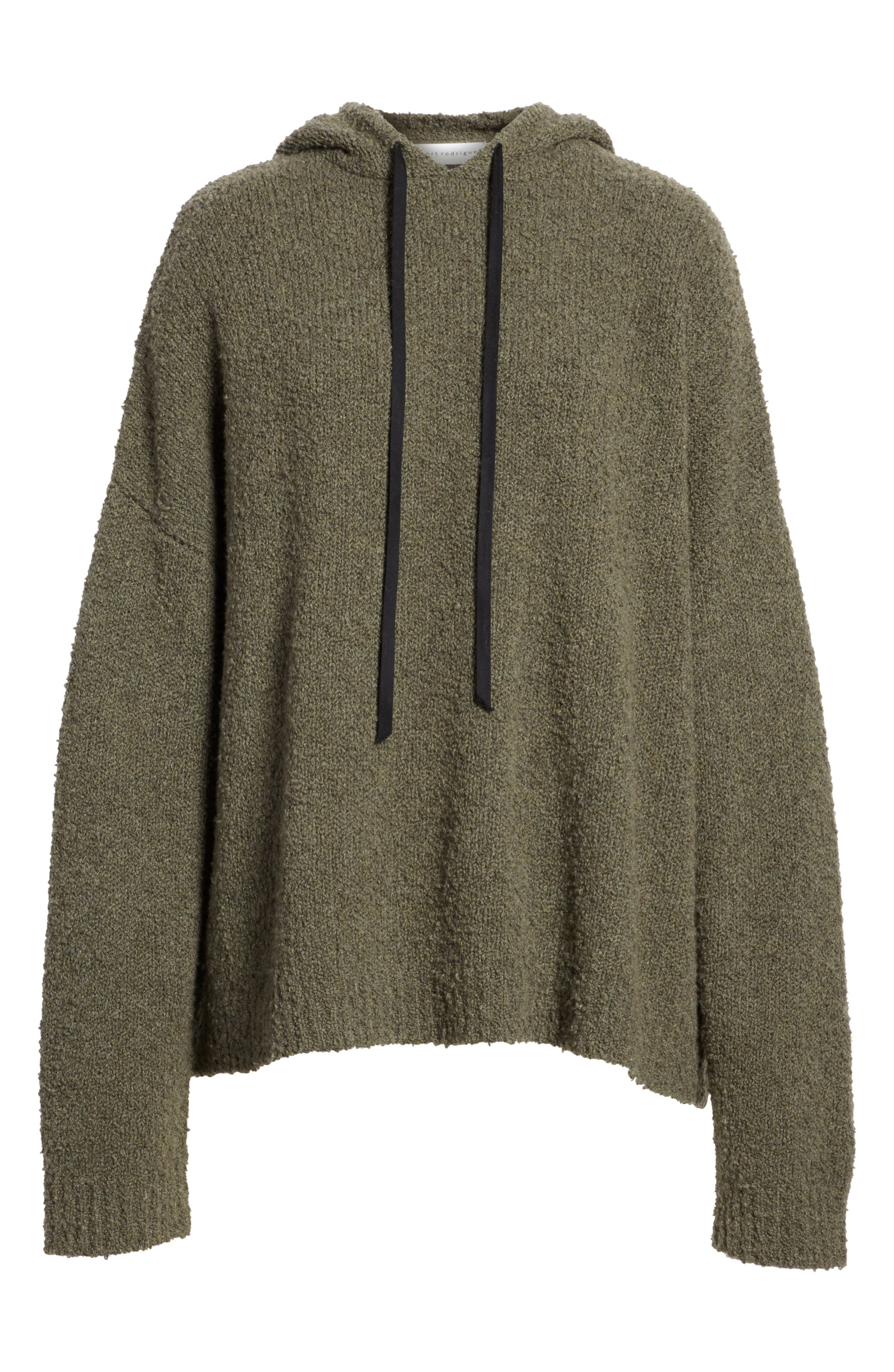 Merino Wool & Cashmere Reversible Hooded Sweater,                             Alternate thumbnail 6, color,                             300