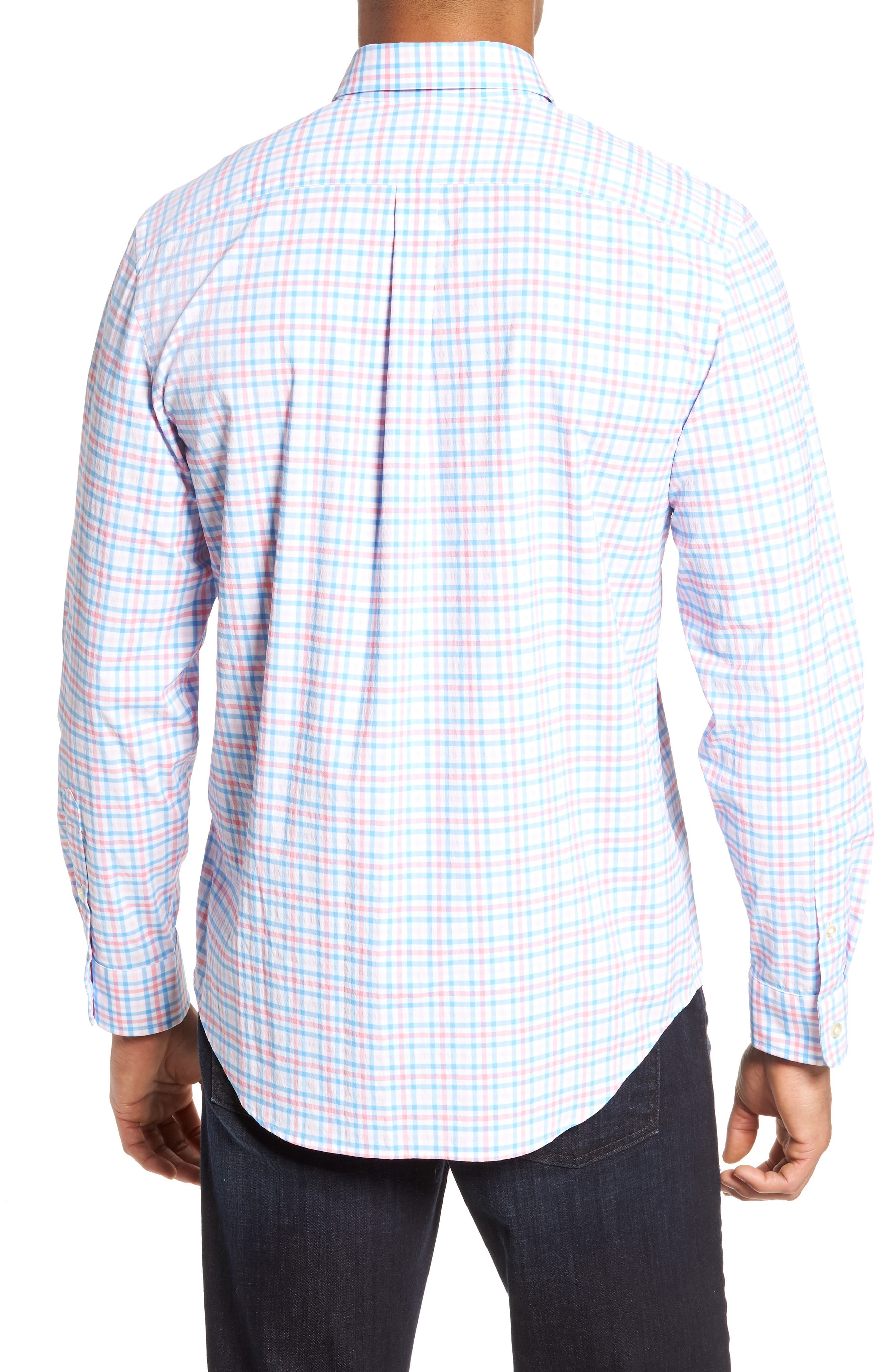 Gulf Shore Tucker Classic Fit Gingham Sport Shirt,                             Alternate thumbnail 2, color,                             956