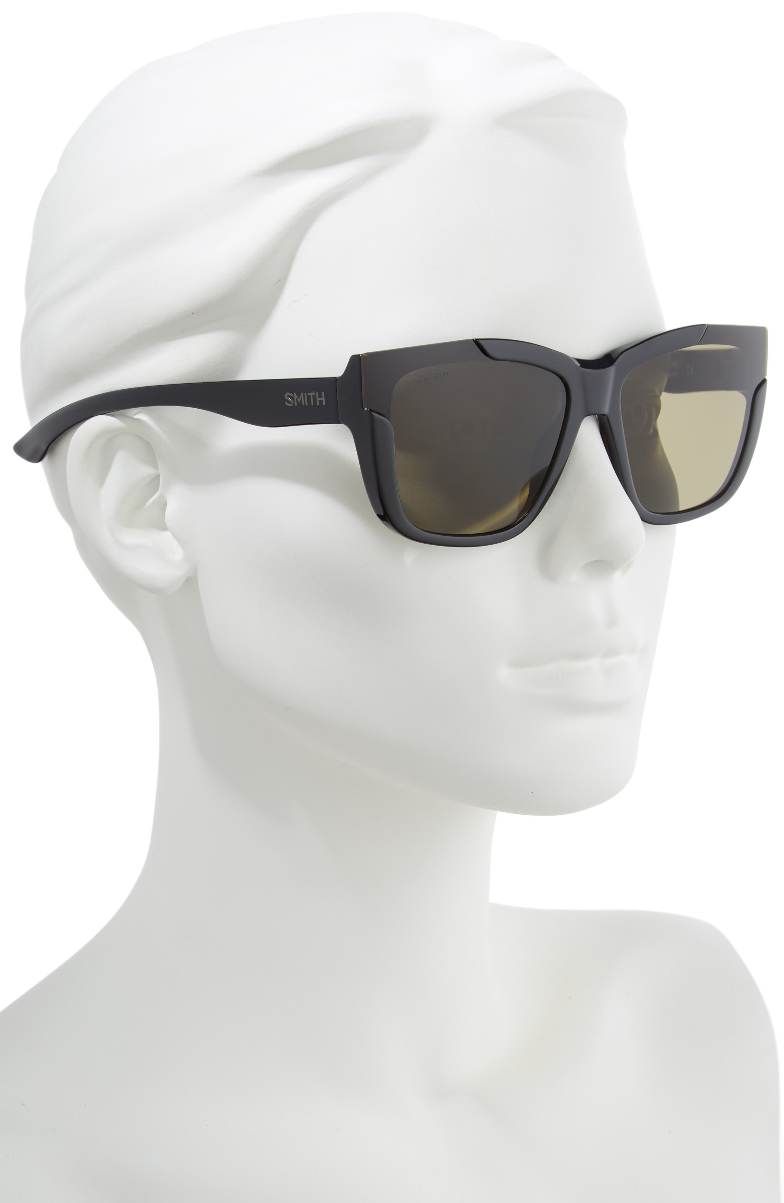 Dreamline 62mm Oversize Butterfly ChromaPop<sup>™</sup> Polarized Sunglasses,                             Alternate thumbnail 2, color,                             BLACK