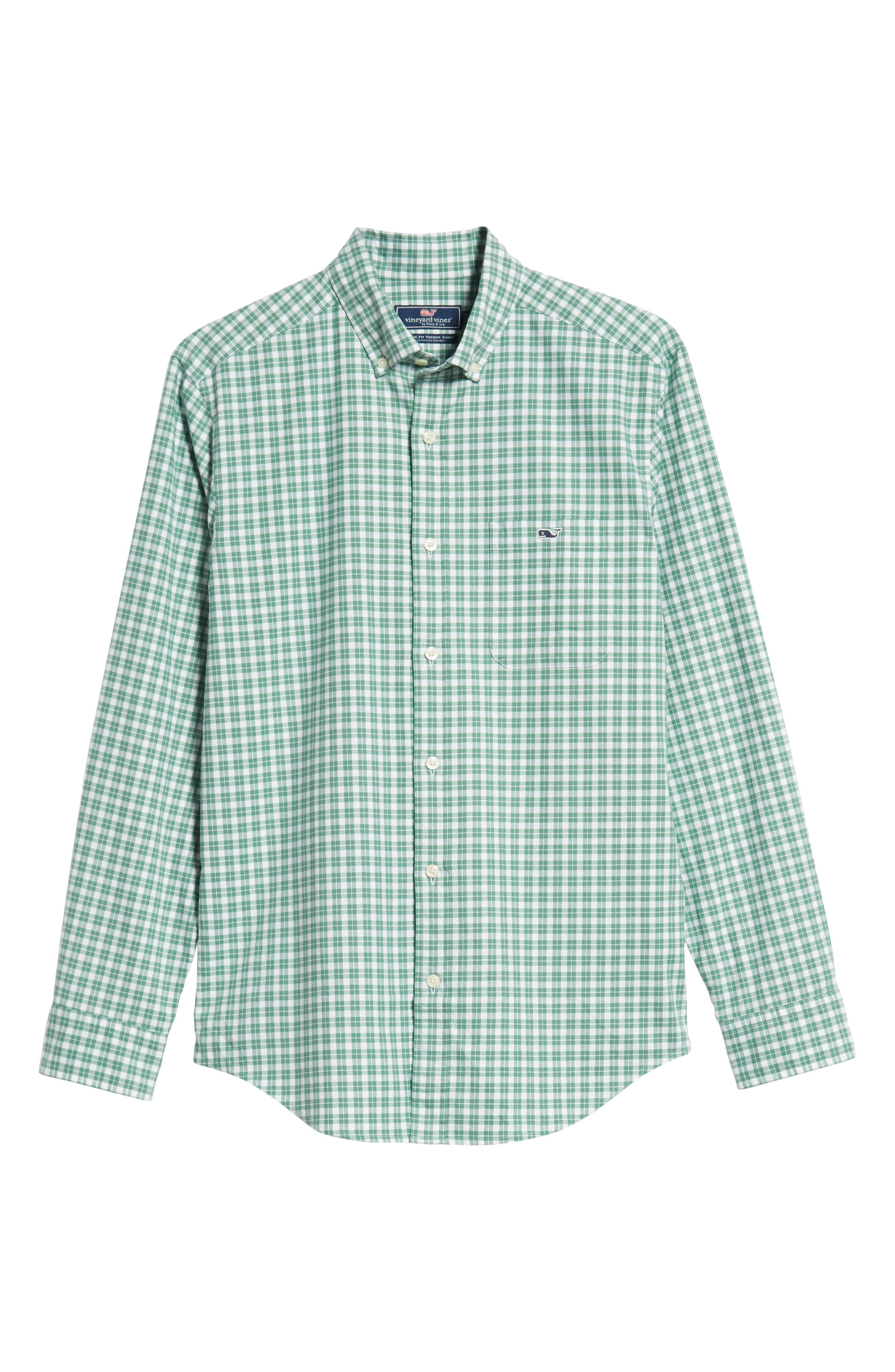 Eagle Hill Classic Fit Check Sport Shirt,                             Alternate thumbnail 5, color,                             STARBOARD GREEN