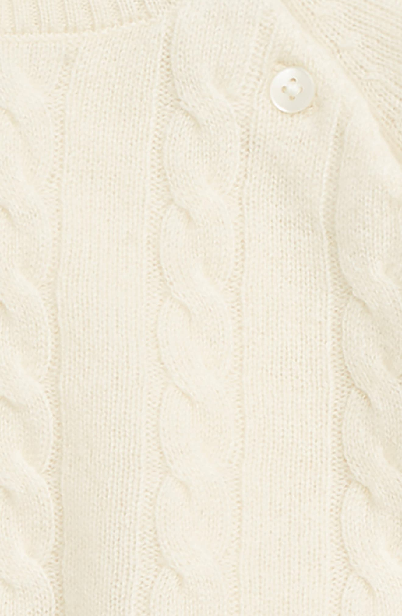 Cashmere Cable Knit Set,                             Alternate thumbnail 2, color,                             IVORY SNOW