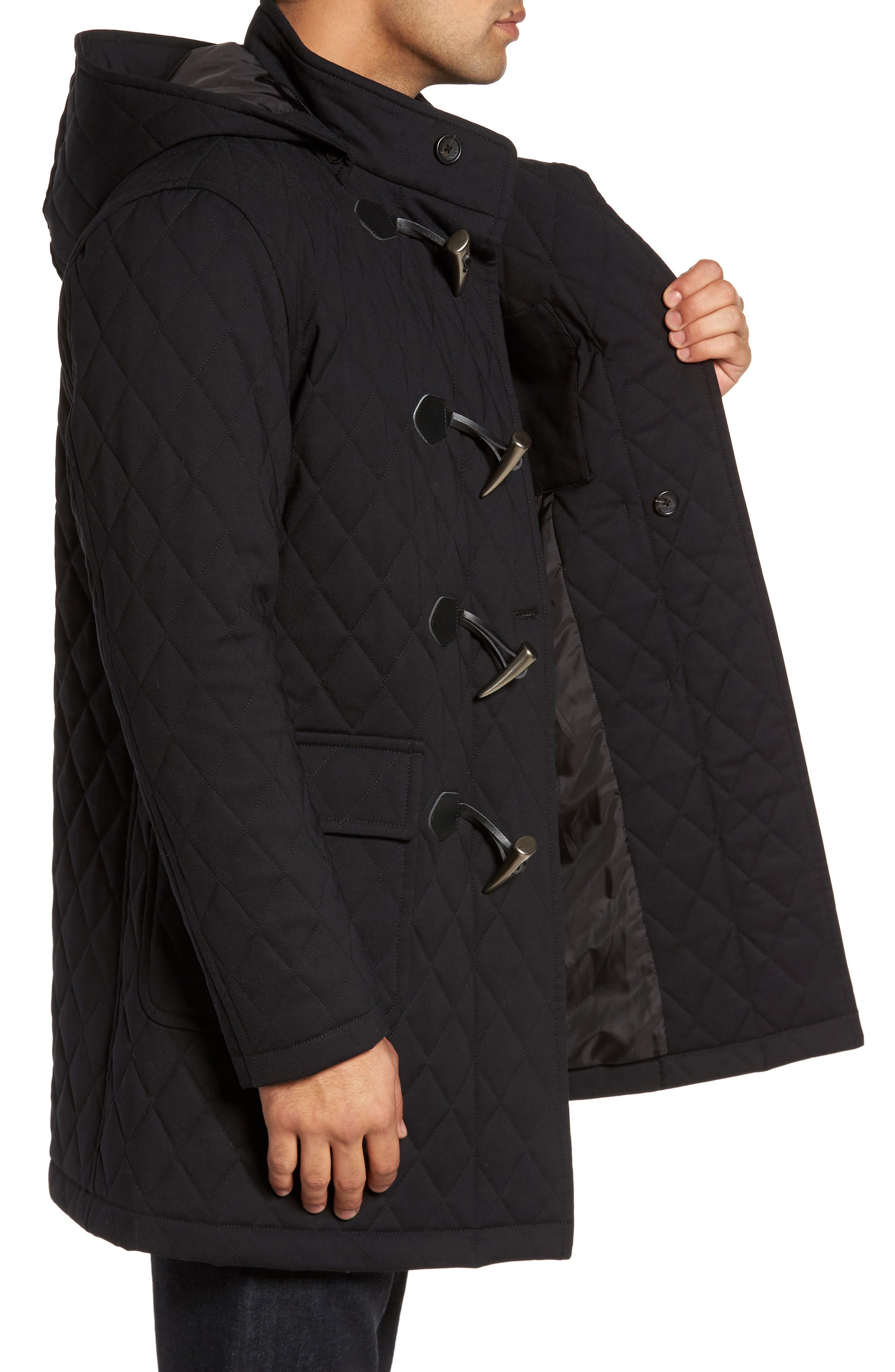 Francisco Quilted Duffle Coat,                             Alternate thumbnail 3, color,                             009