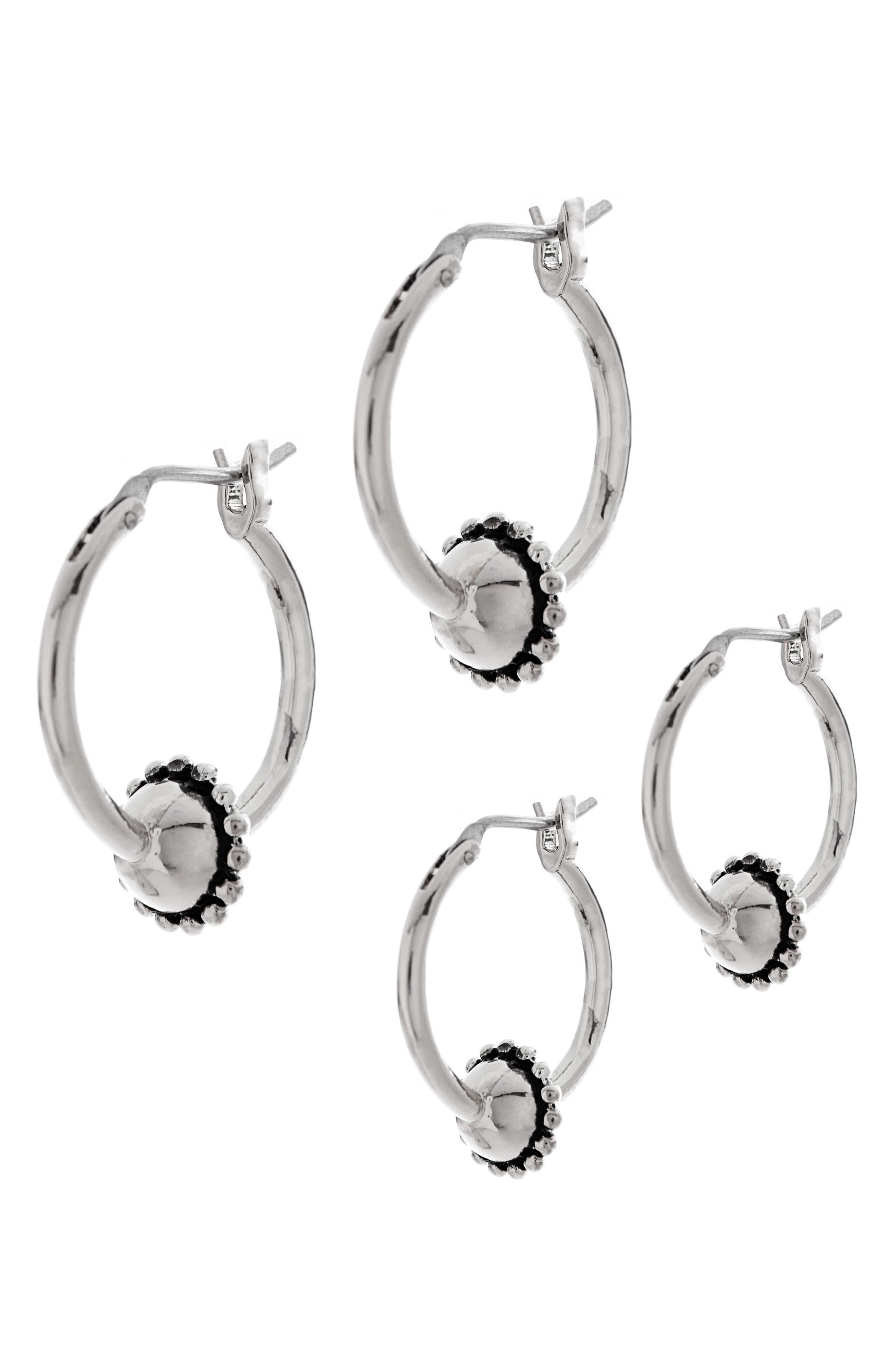 Baroque Hoop Earrings,                             Alternate thumbnail 3, color,                             040