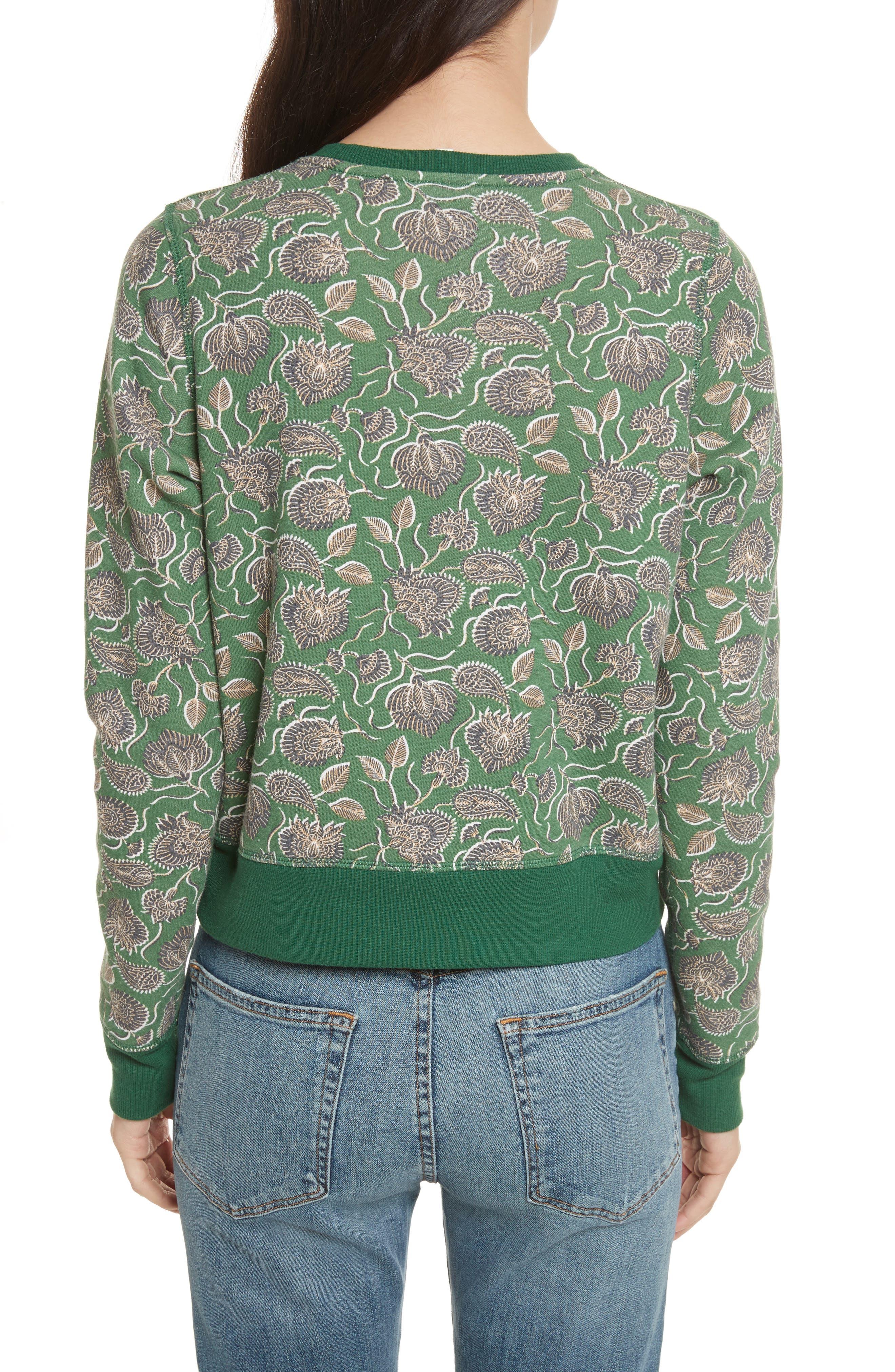 Lotus Paisley Sweatshirt,                             Alternate thumbnail 2, color,                             317