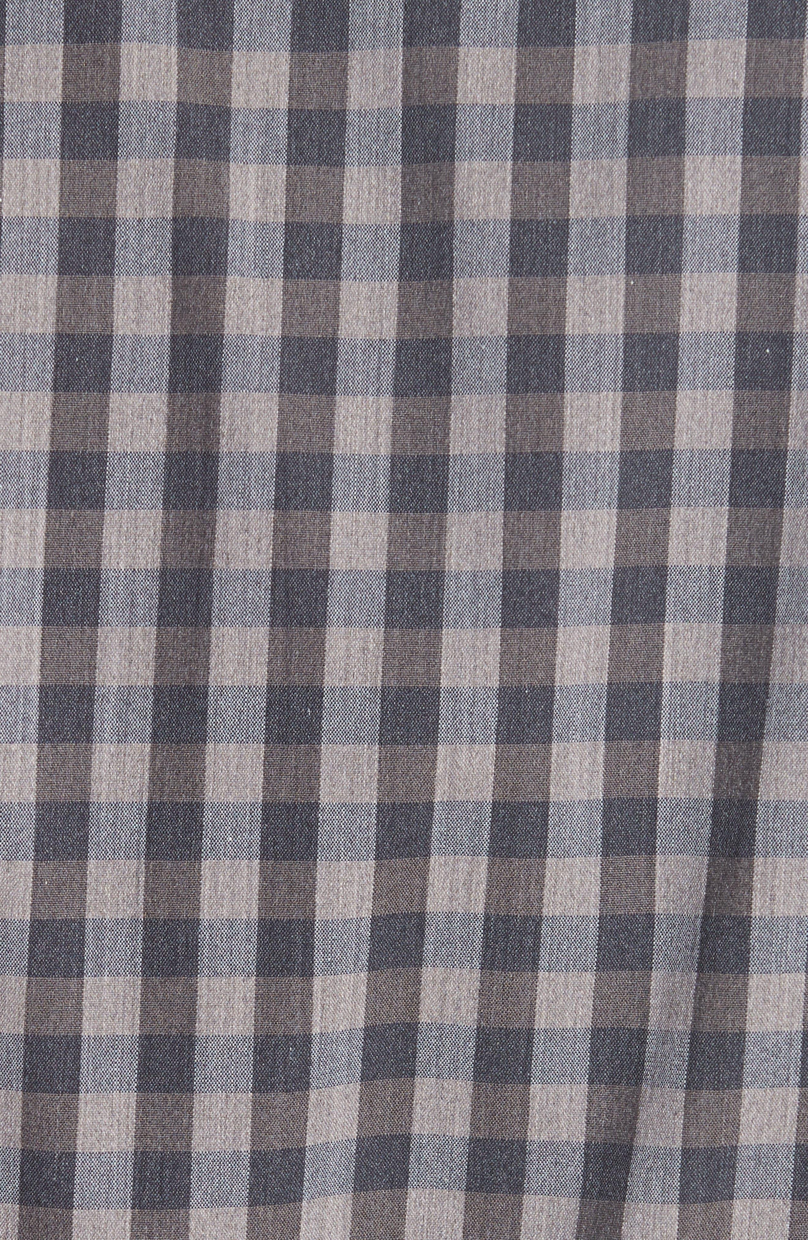 Regular Fit Stretch Check Sport Shirt,                             Alternate thumbnail 5, color,                             200