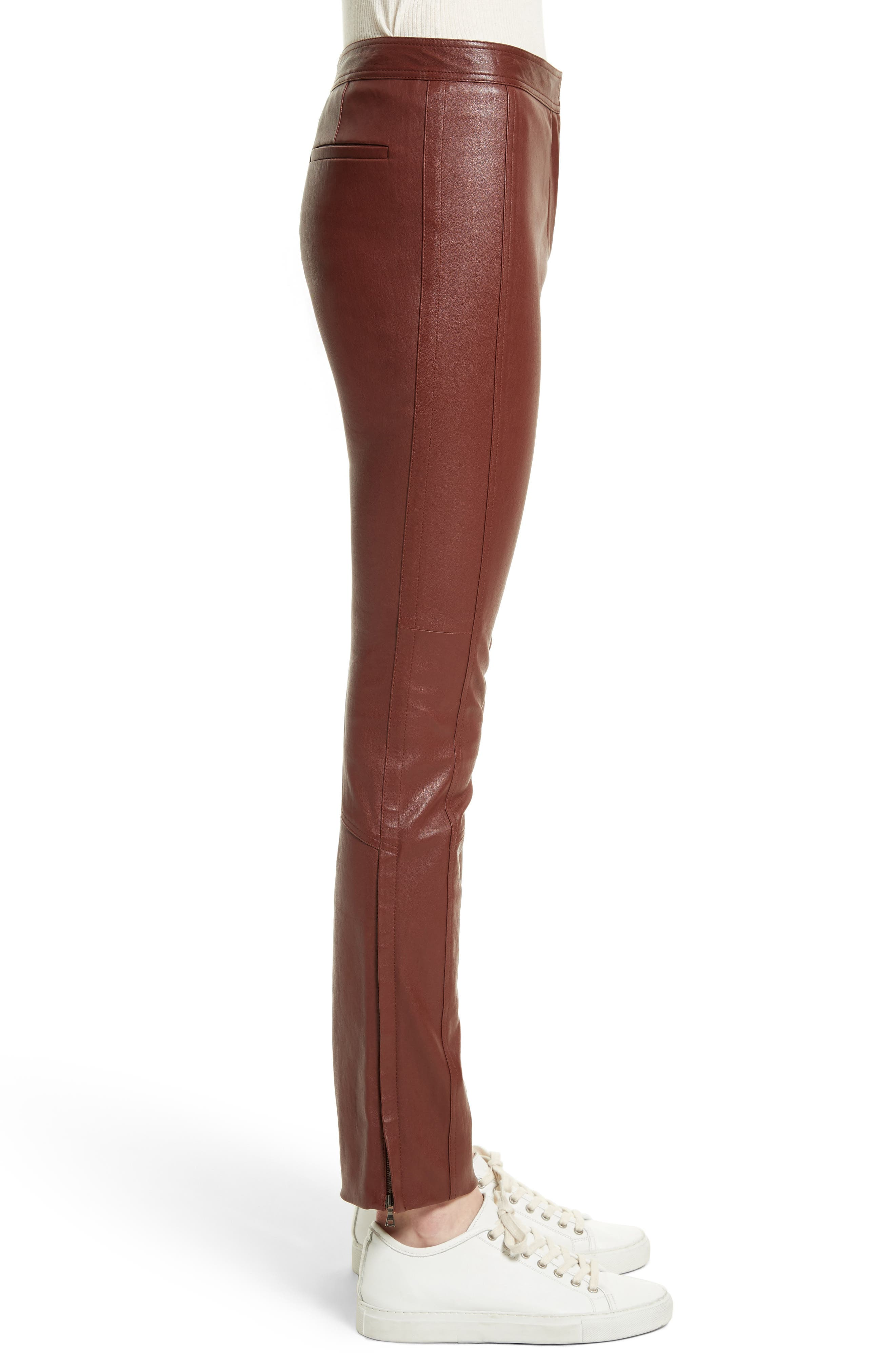 Bristol Leather Riding Pants,                             Alternate thumbnail 3, color,                             215