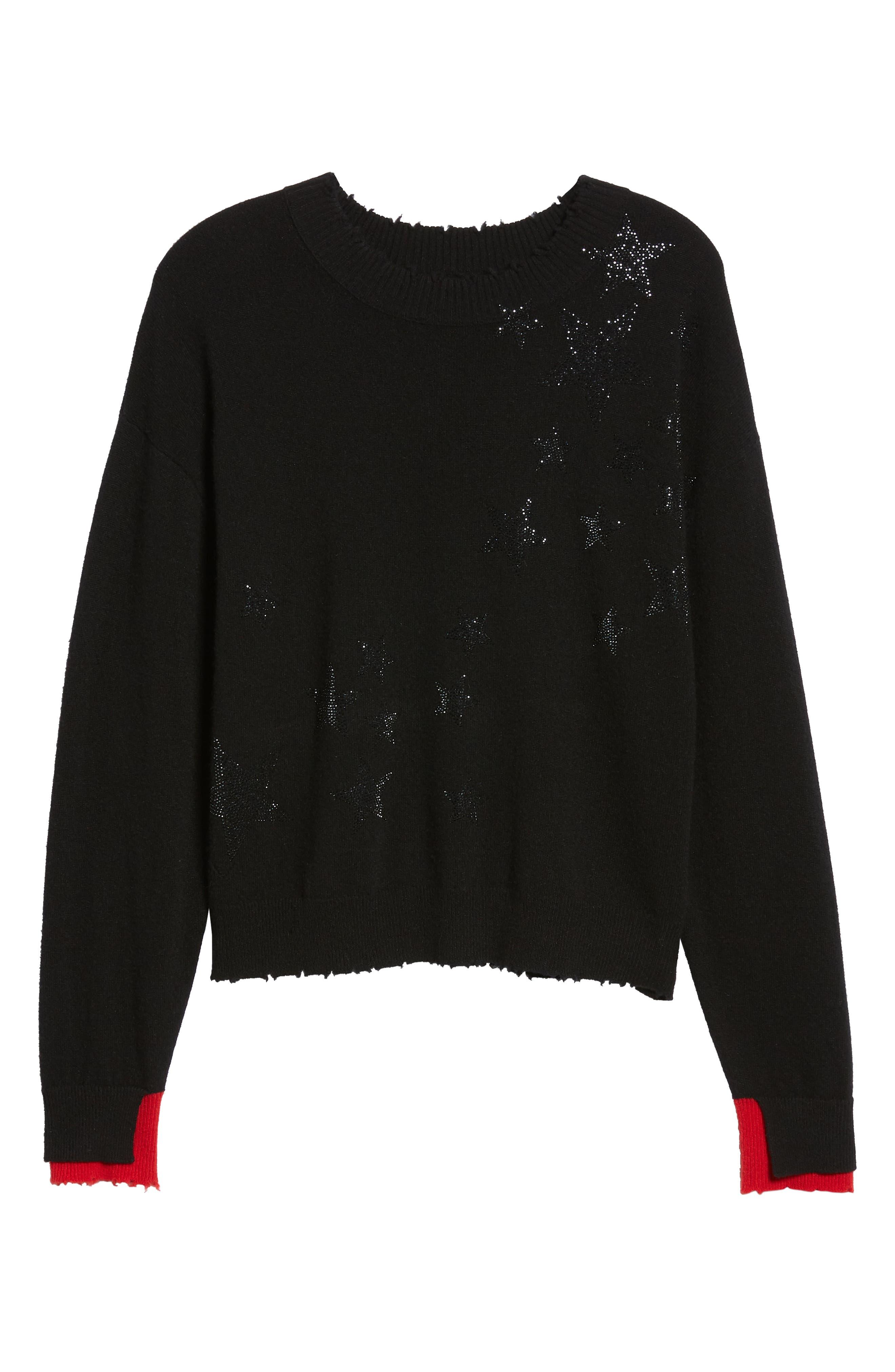 Gaby Cashmere Sweater,                             Alternate thumbnail 6, color,                             NOIR