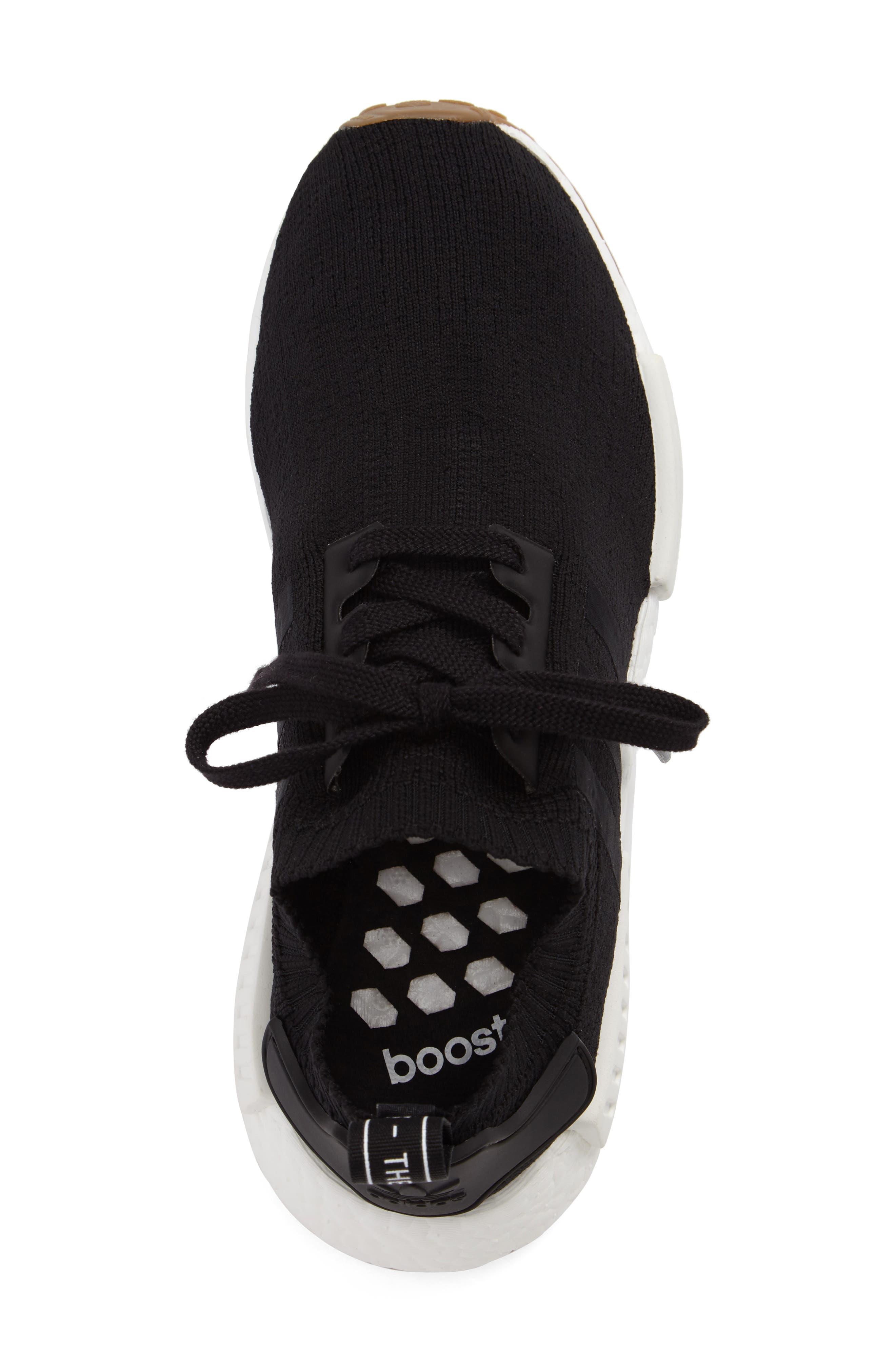 NMD R1 Primeknit Sneaker,                             Alternate thumbnail 5, color,                             002