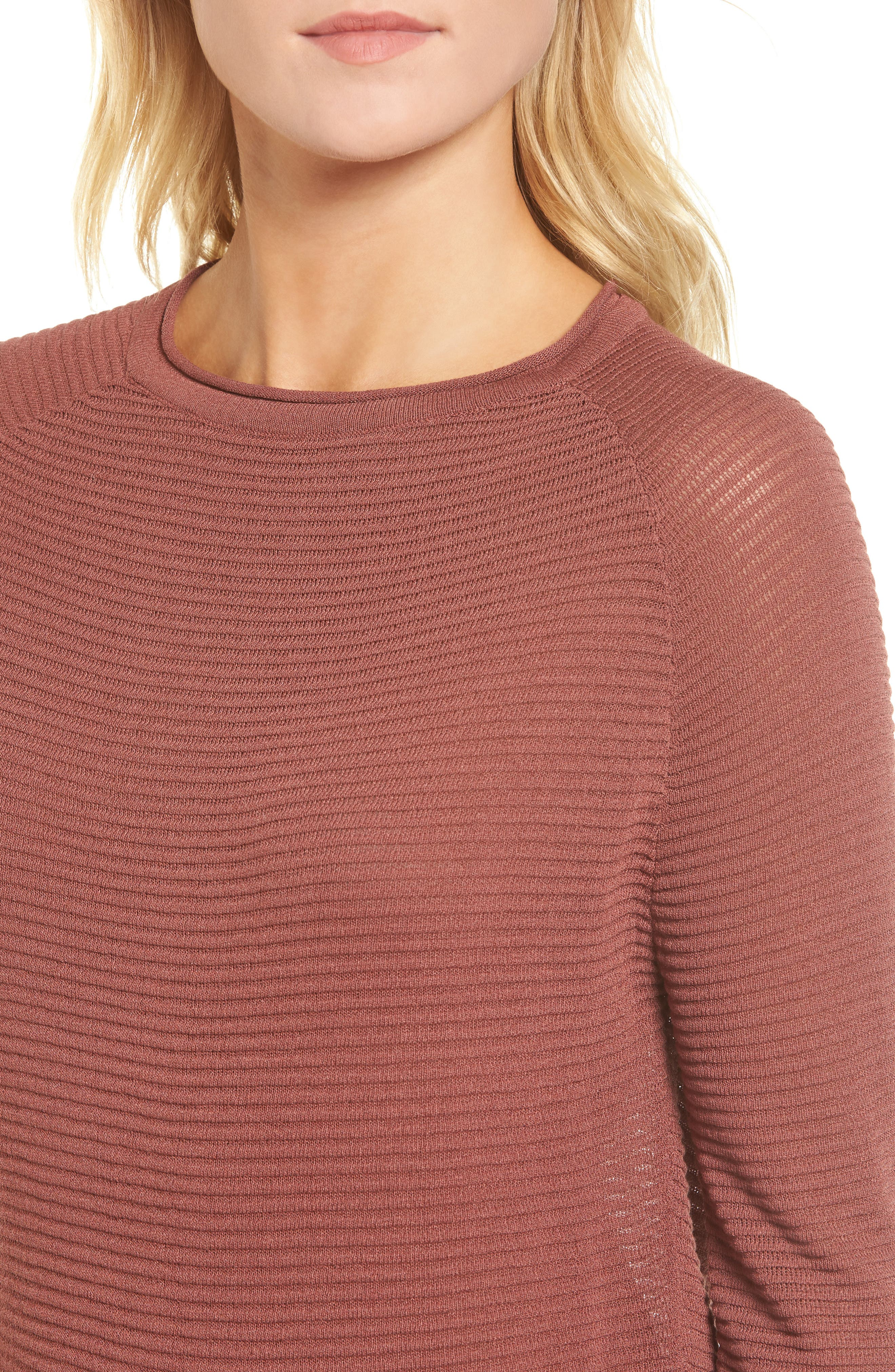 Ribbed Sweatshirt,                             Alternate thumbnail 4, color,                             240