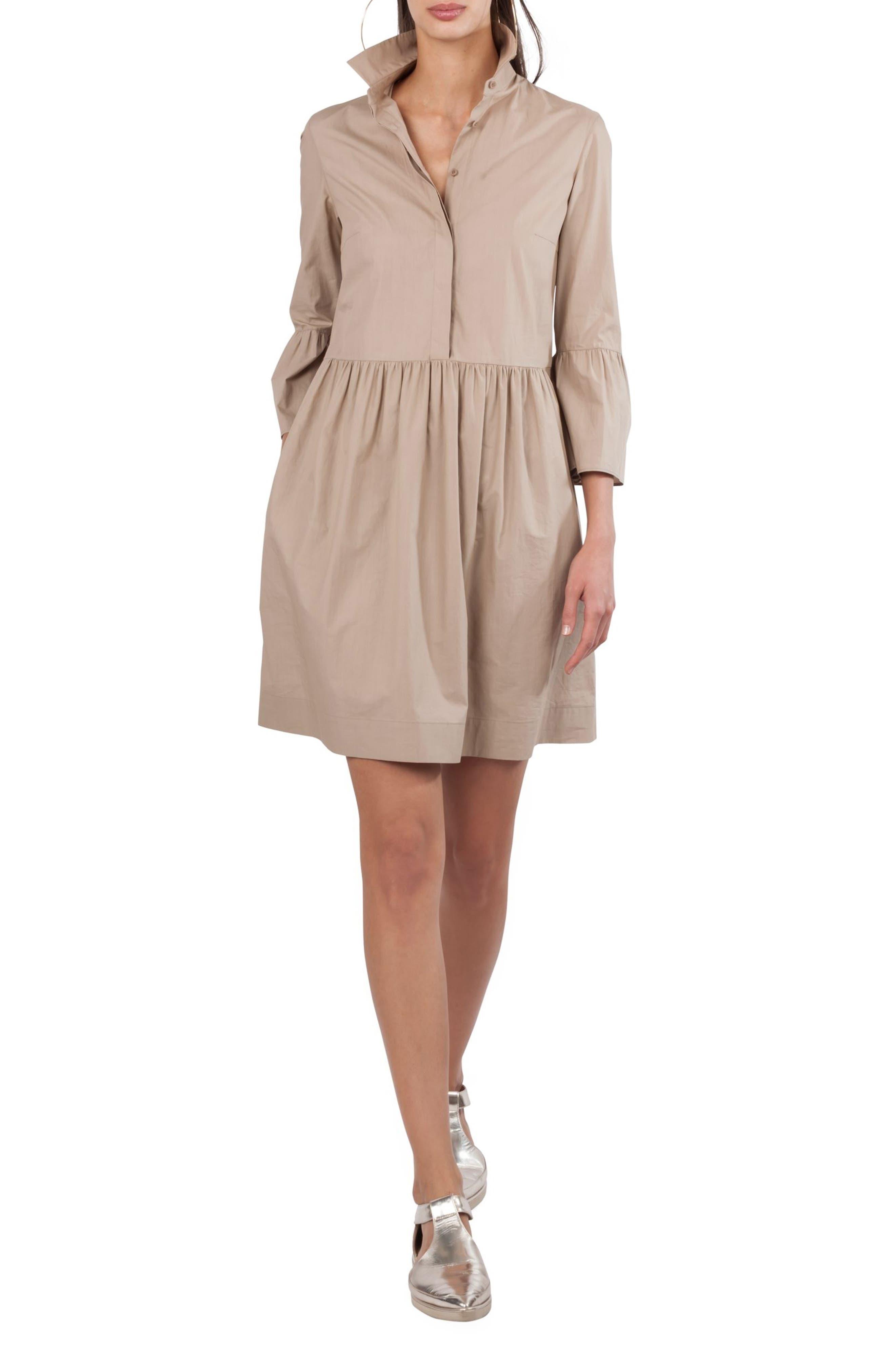 Ruffle Skirt Shirtdress,                             Main thumbnail 1, color,                             253