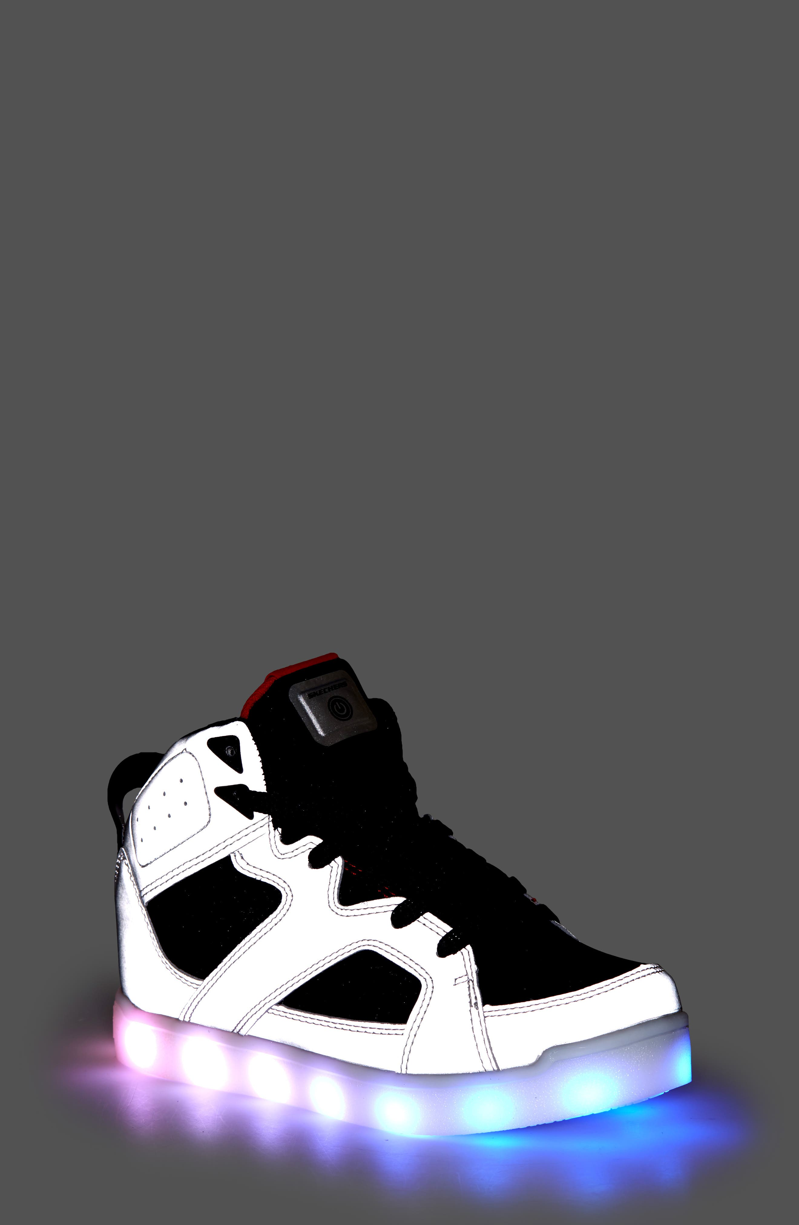 Energy Lights Pro Show Stopper High Top Sneaker,                             Alternate thumbnail 7, color,                             040